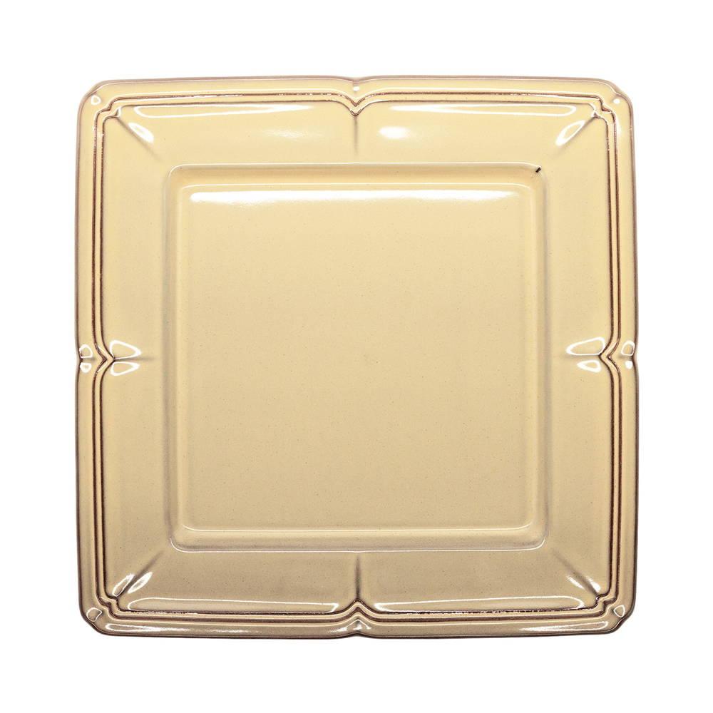 Koyo ラフィネ スクエア プレート 皿 約20cm シナモンベージュ 1592約2064