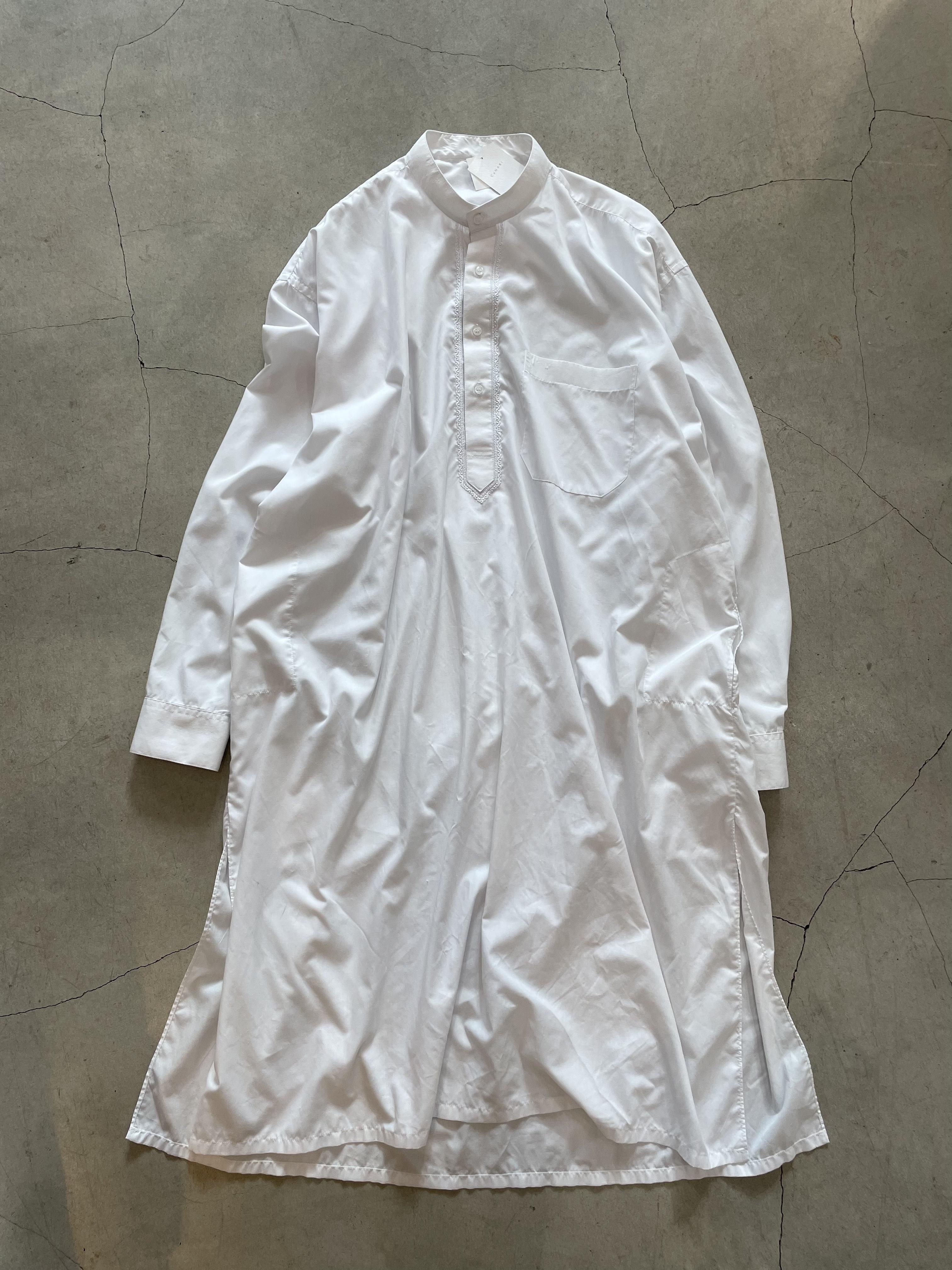 vintage arabian shirt dress -white-