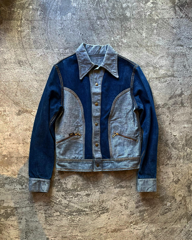 (OT208)70's LEE reversible denim jacket dead stock