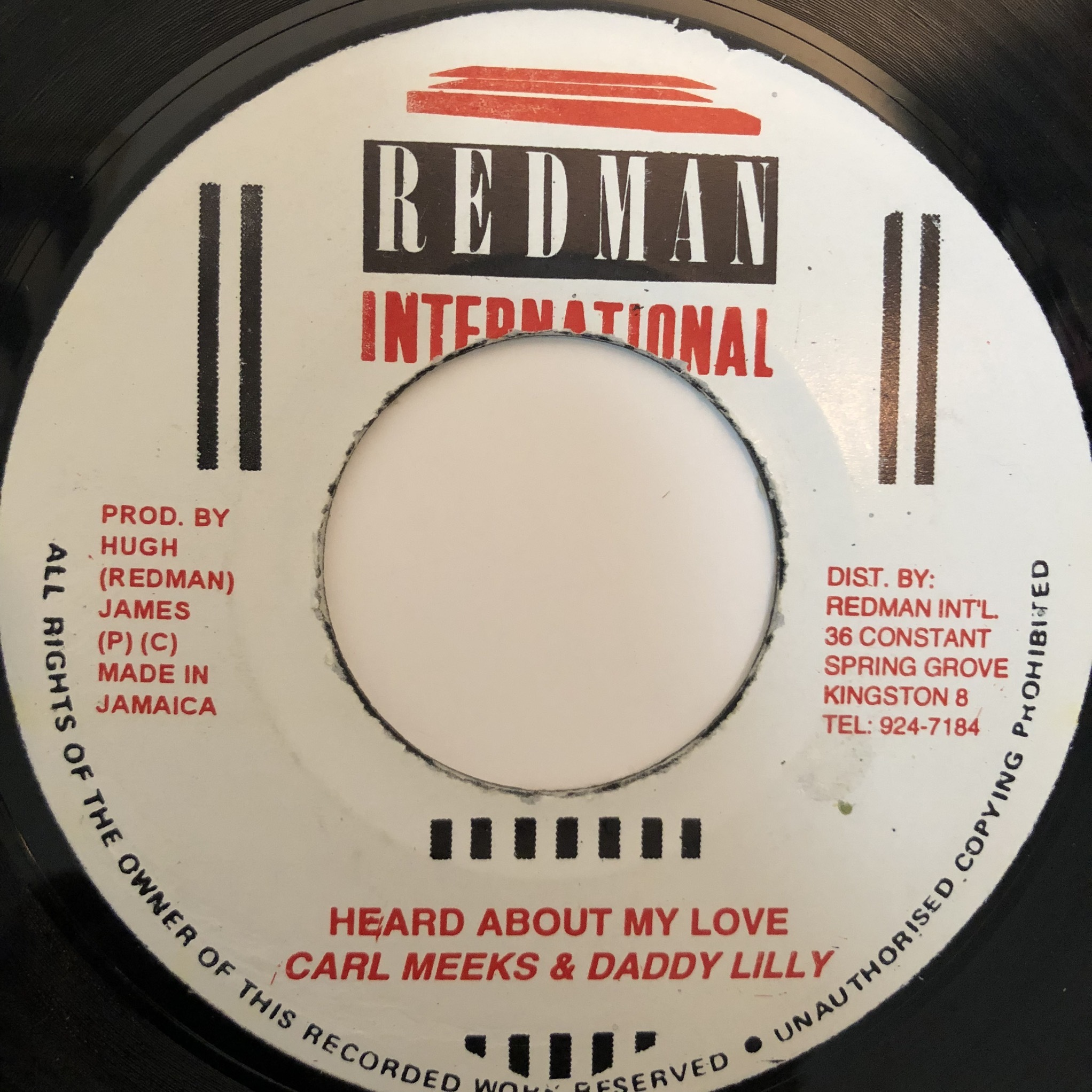 Carl Meeks, Daddy Lilly - Heard About My Love【7-20358】
