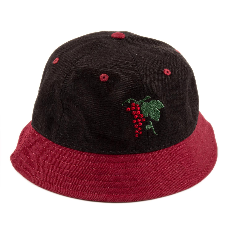 PASS~PORT LIFE OF LEISURE BUCKET HAT BURGUNDY/BLACK