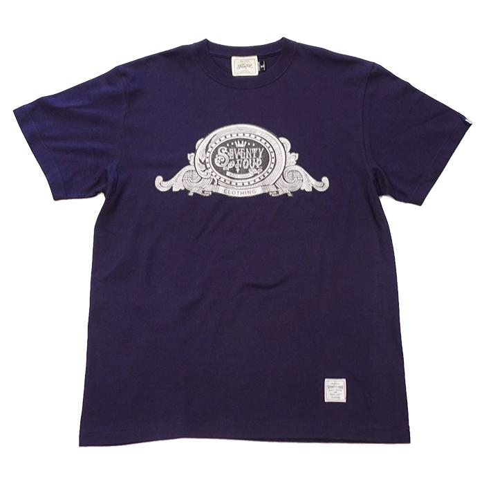 SEVENTY FOUR(セブンティーフォー) / BILL LOGO T-SHIRT(NAVY)(STF21SF4)(Tシャツ)