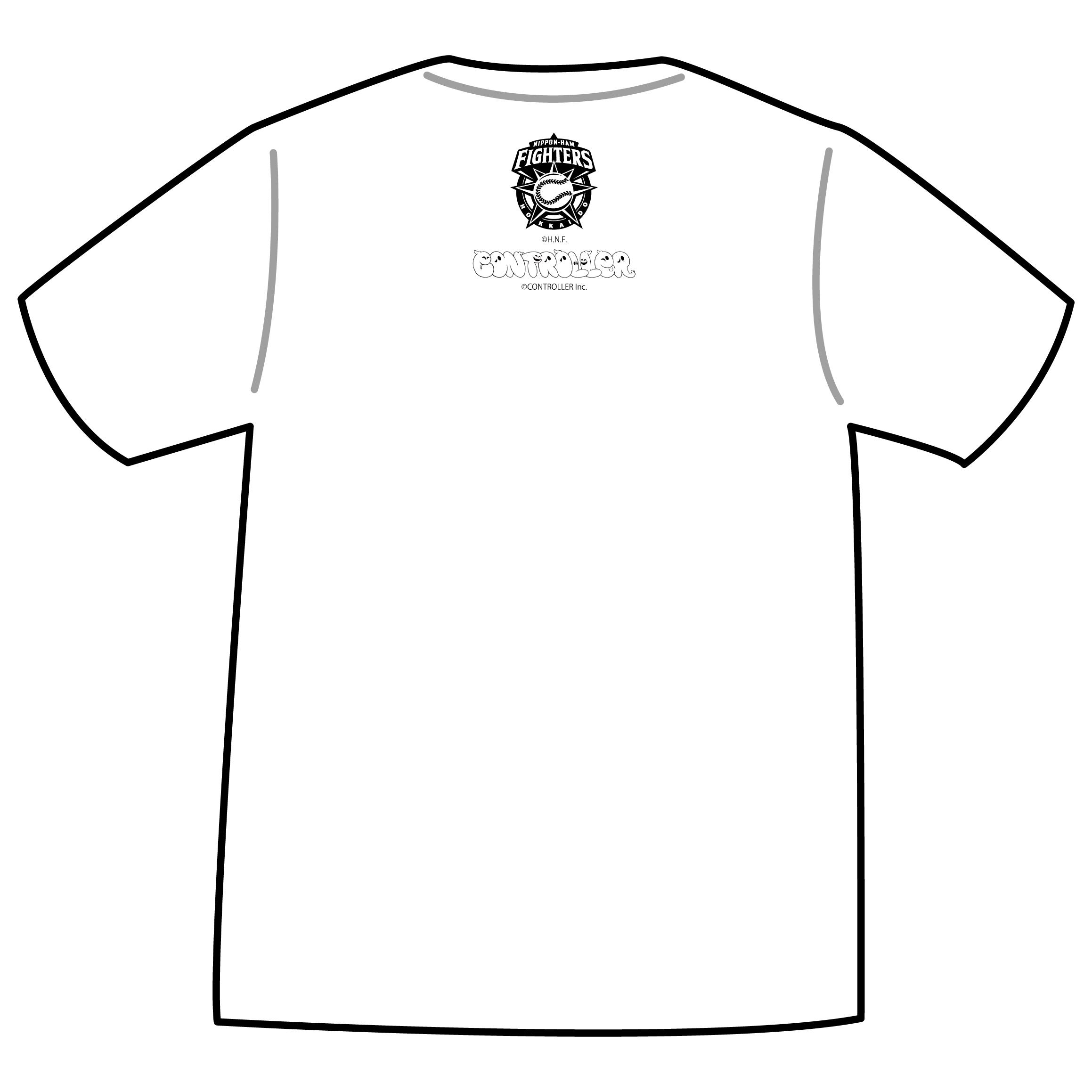 ドットファイターズ 「うわさわ」 Tシャツ ホワイト