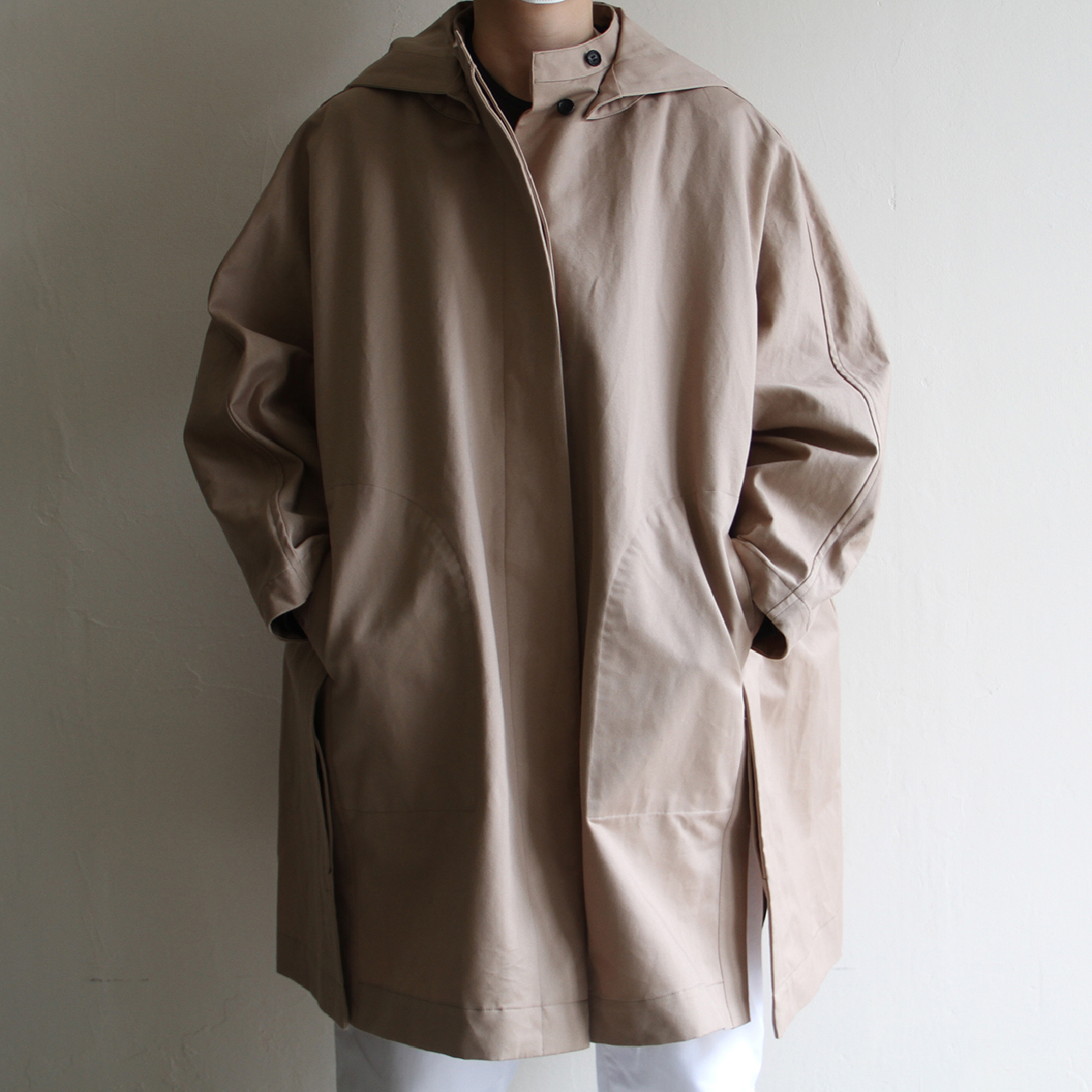 TENNE HANDCRAFTED MODERN【 womens 】paper cotton cape with hood