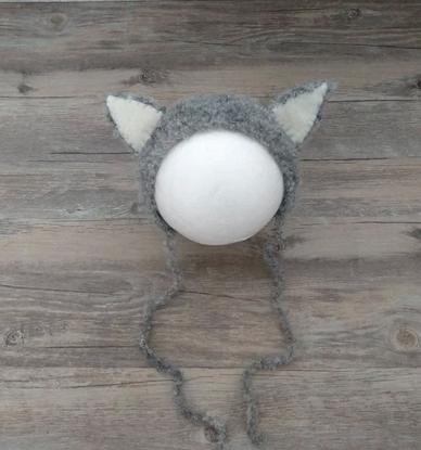 もこもこ猫ちゃん帽子