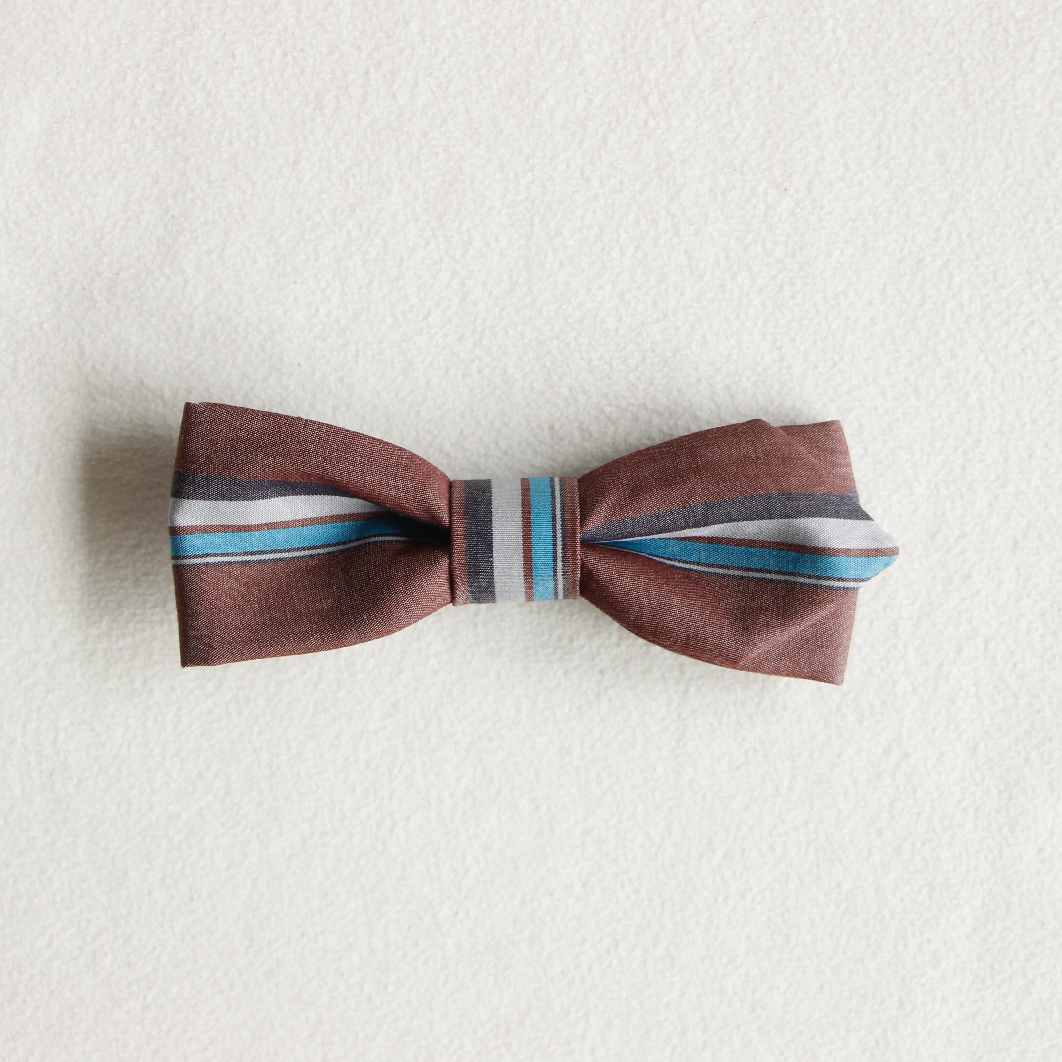 《eLfinFolk 2021SS》regimen stripe bow tie / burgundy