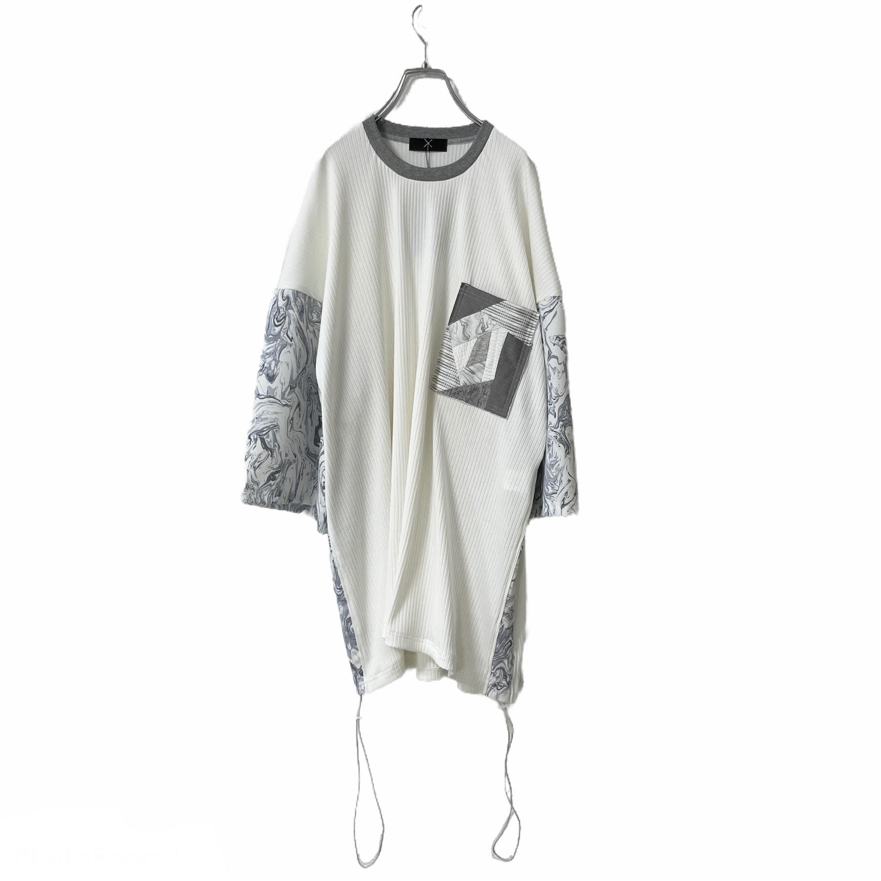 Gather-T-shirts Pocket ( white)