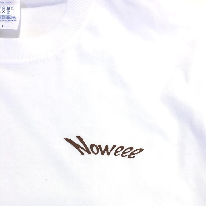 Noweee ロングTシャツ Fishingバージョン ホワイト メンズ