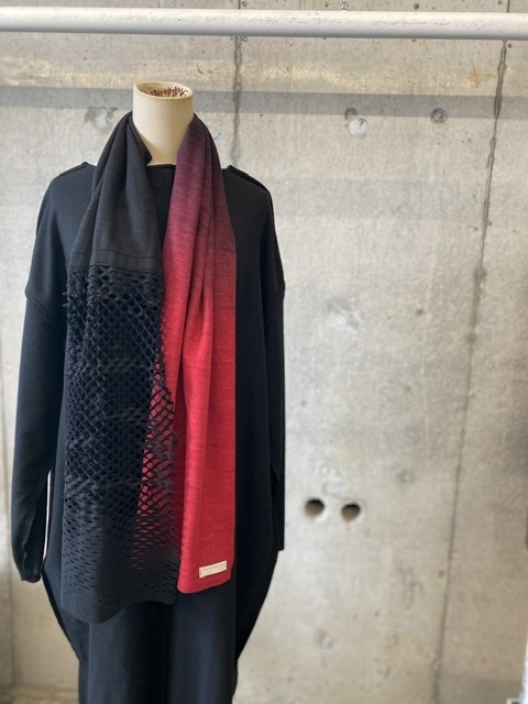 DRESS SCARF 1点モノ【WOOL ウール】 ONE OFF SCARF[送料/税込]