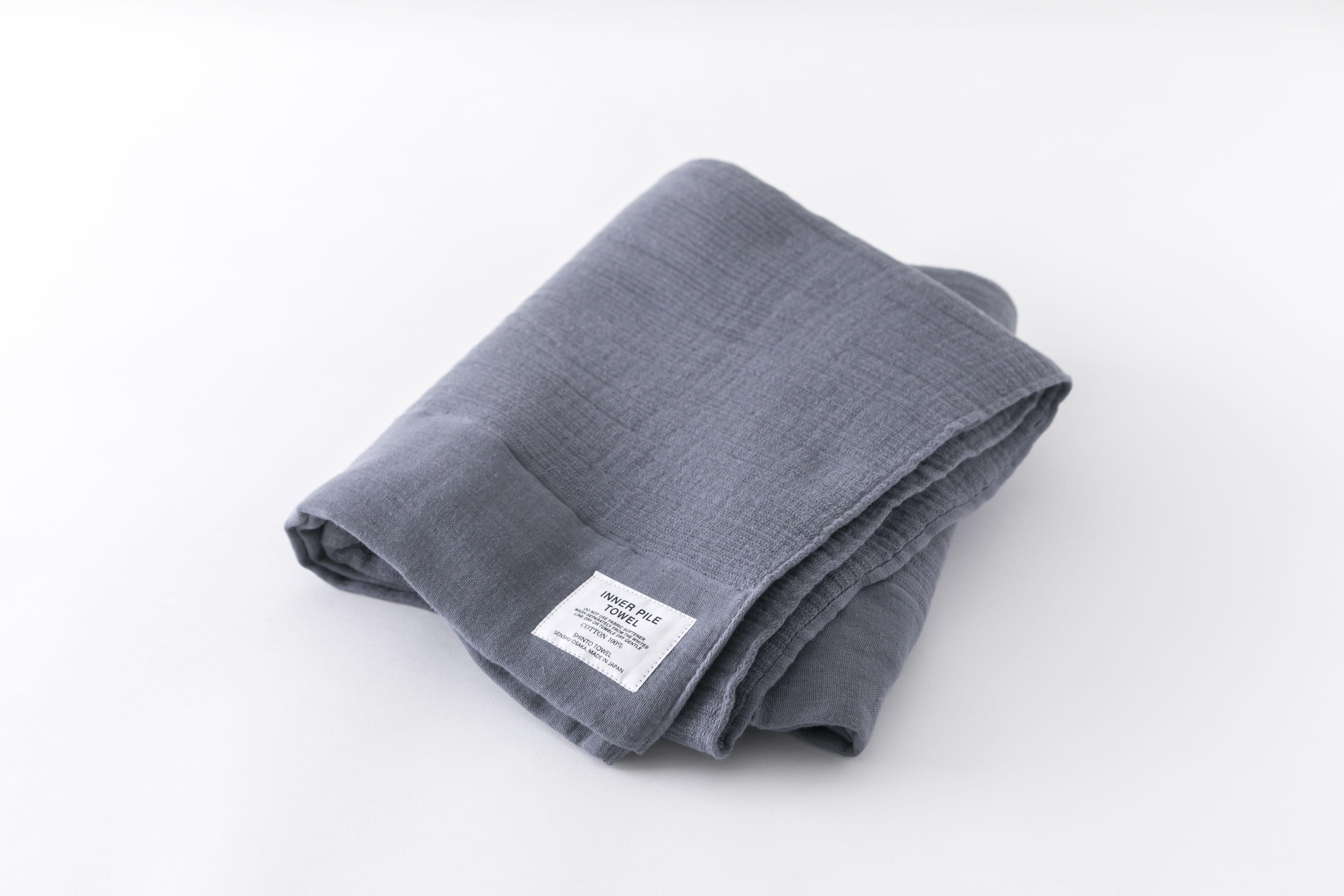 INNER PILE TOWEL : BATH TOWEL (Charcoal) / SHINTO TOWEL