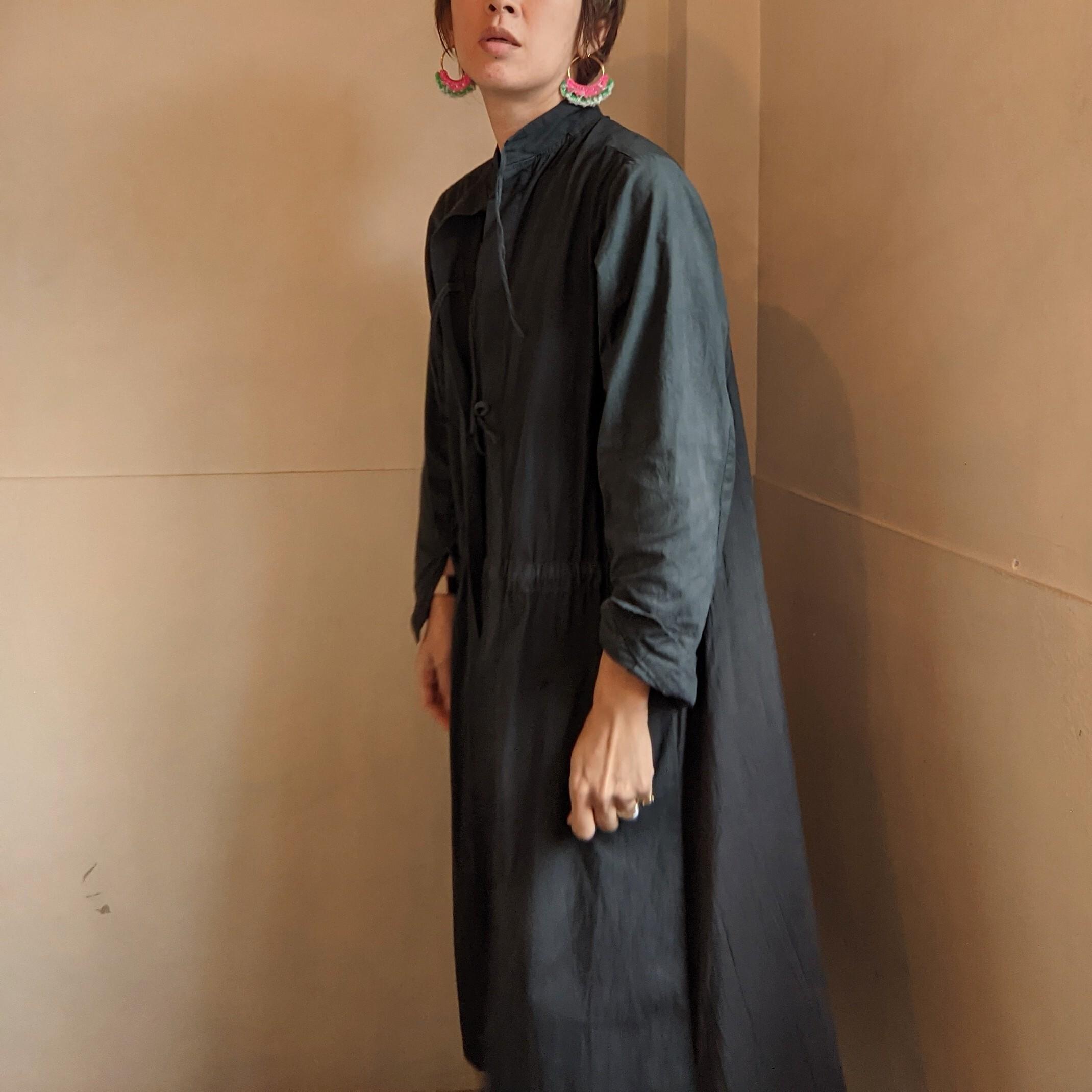 ☆ume limited color ☆【 REHERSALL 】リハーズオール / 2way medical dress gown / メディカルワンピースガウン / Black