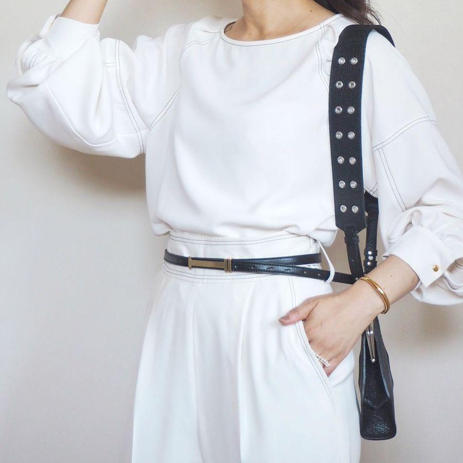 【雑誌掲載品】belllabell 牛革 リバーシブル細ベルト 15mm幅(rl-ri02)