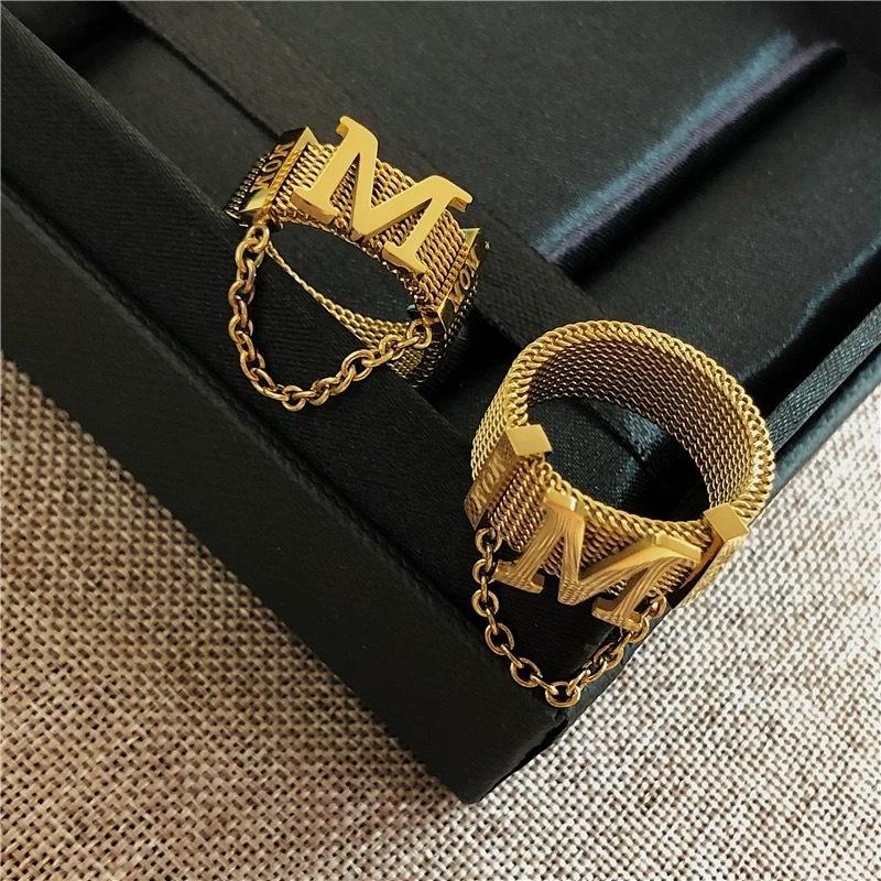 m logo chain ring