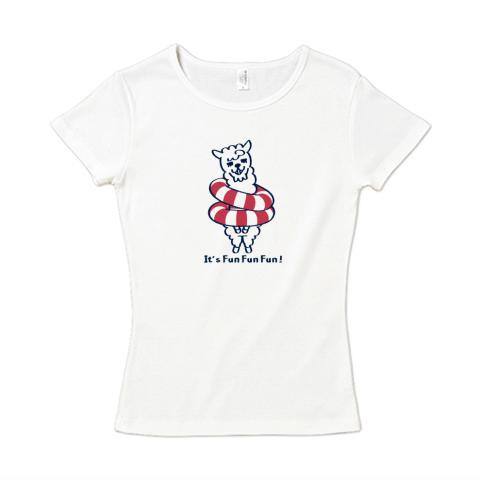 キャラT31  あるぱかイズムのである* レディースタイプ6.2オンス CVC フライス Tシャツ