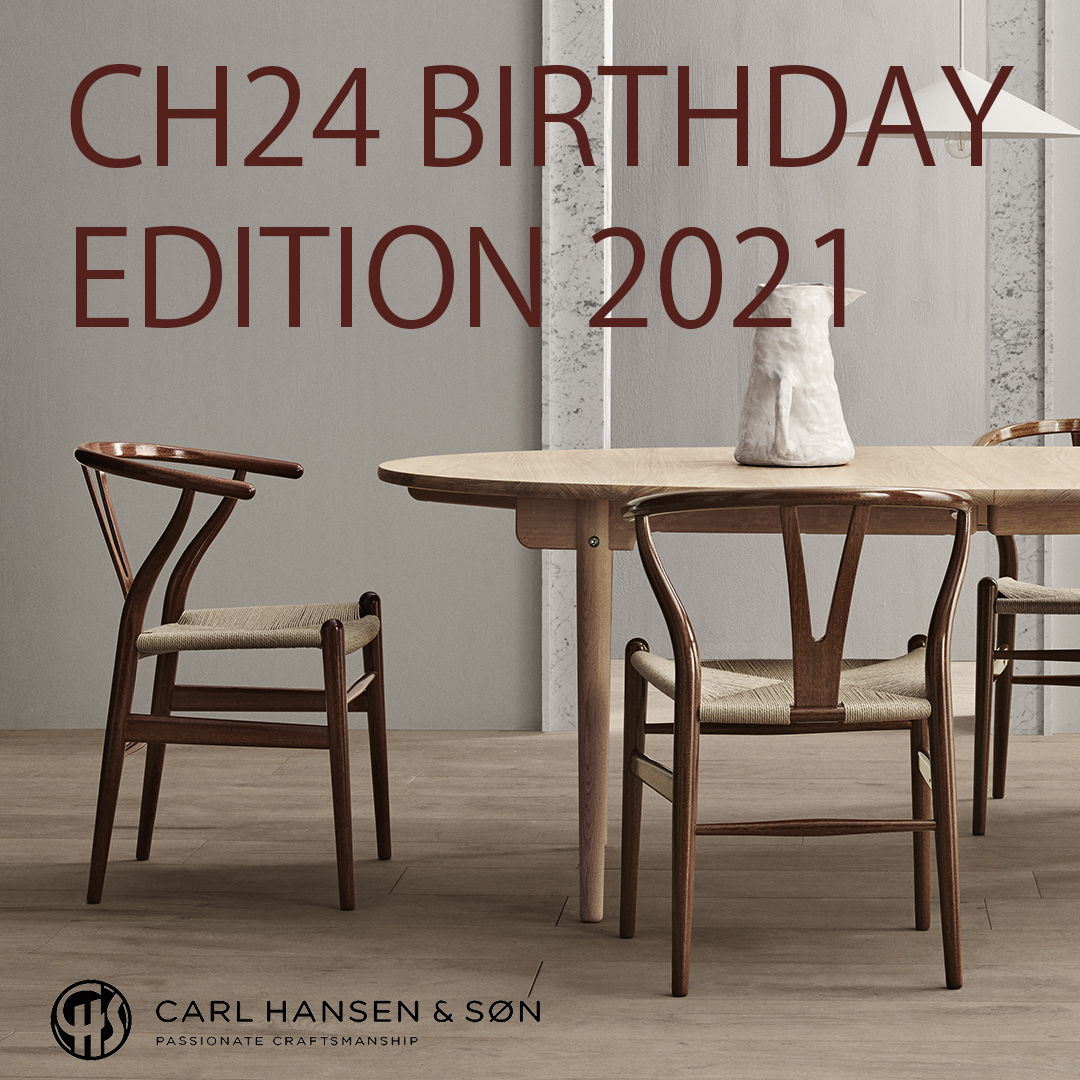 【BIRTHDAY EDITION 2021】CH24 Yチェア MAHOGANY HIGH GLOSS LACQUER[CARL HANSEN & SON]