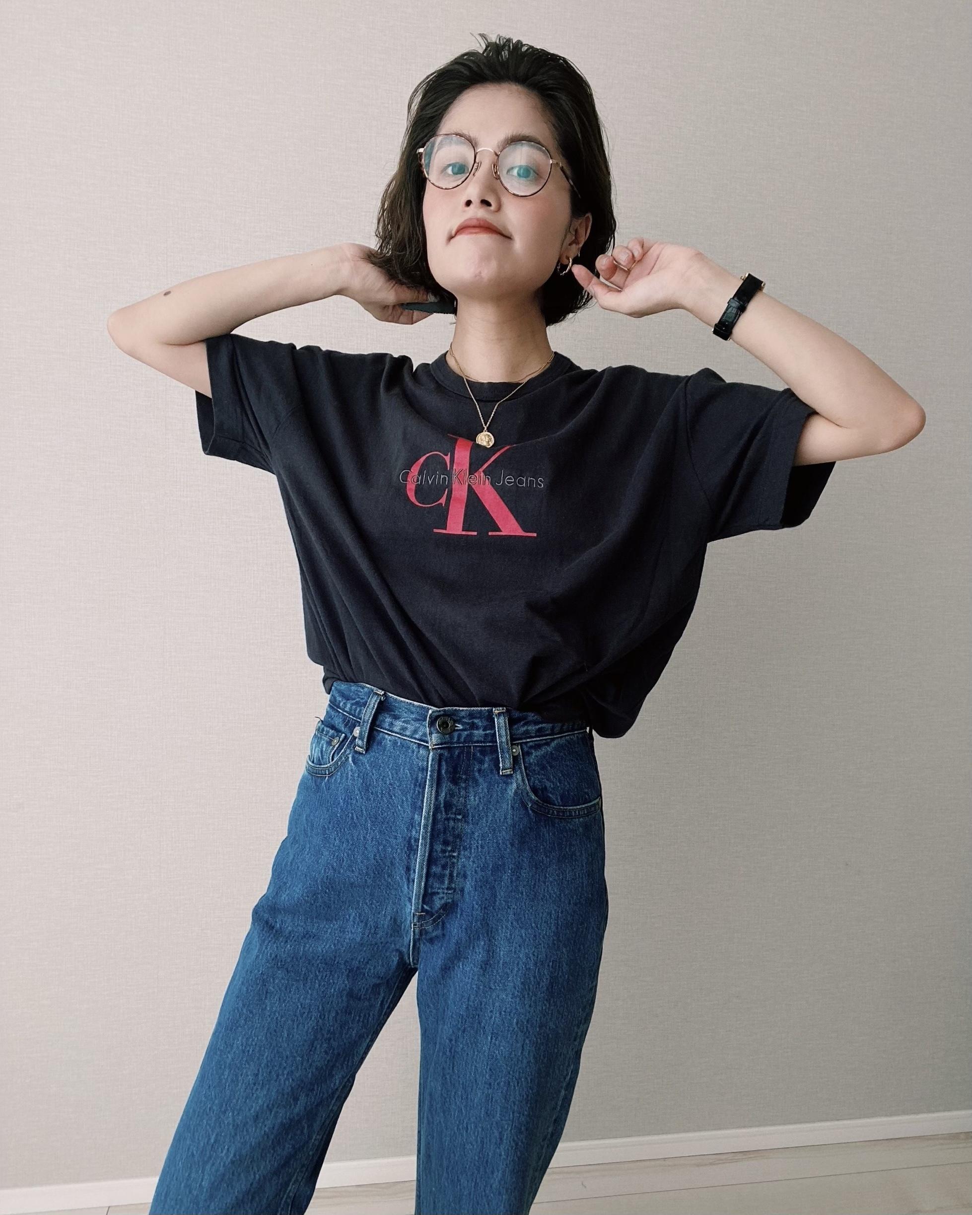 (CS276)Calvin Klein embroidery logo T-shirt