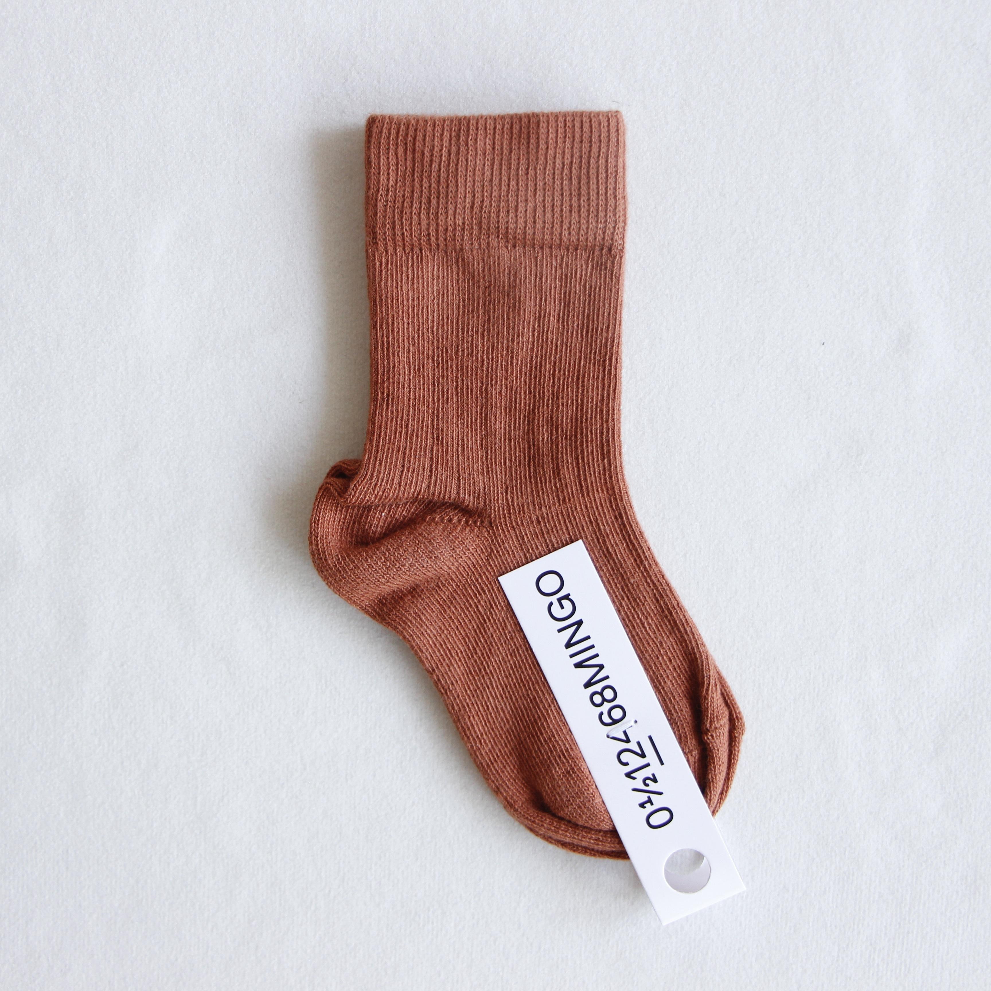 《MINGO. 2021AW》Socks / Chocolate Milk