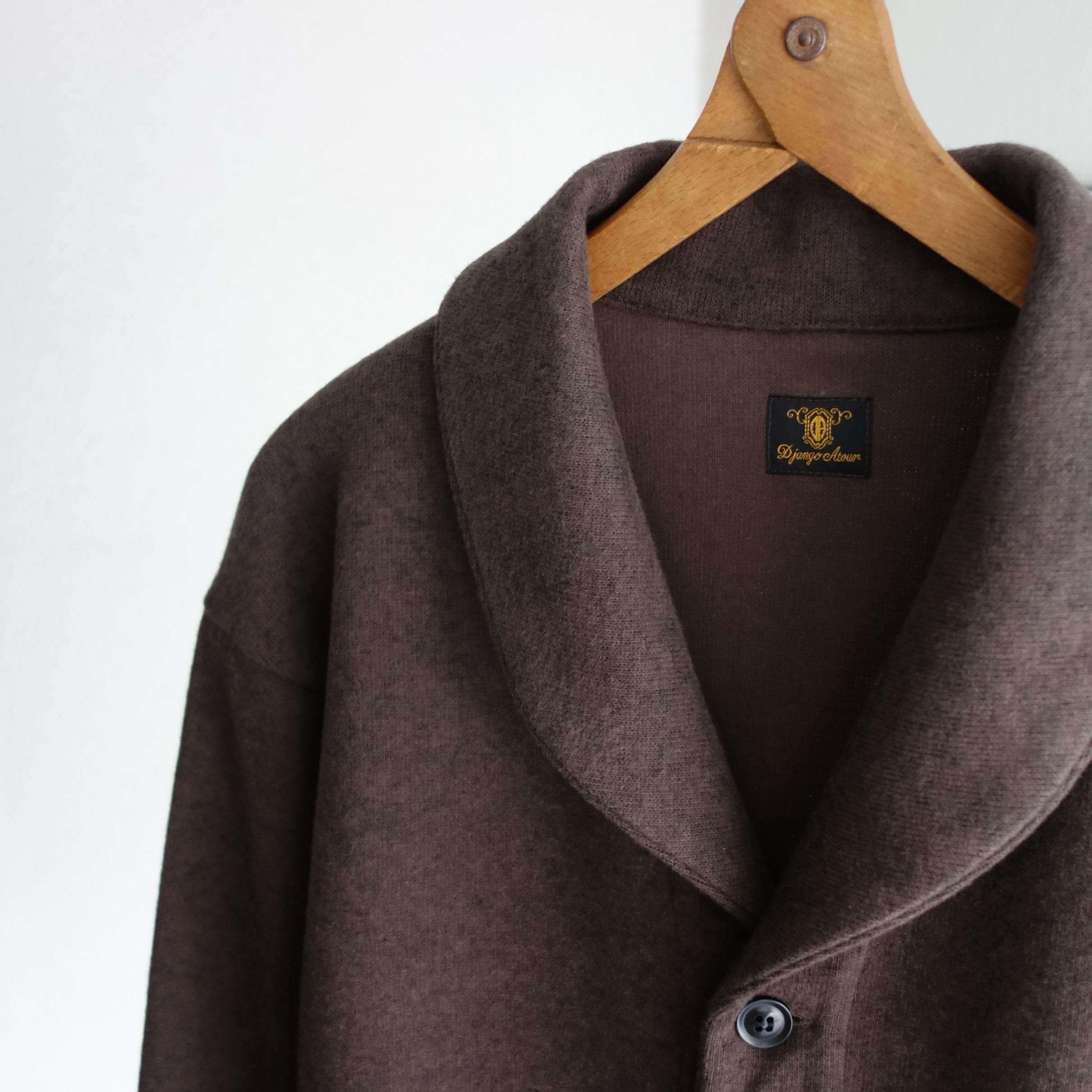 classic shawlcollar wool jacket / mochabrown