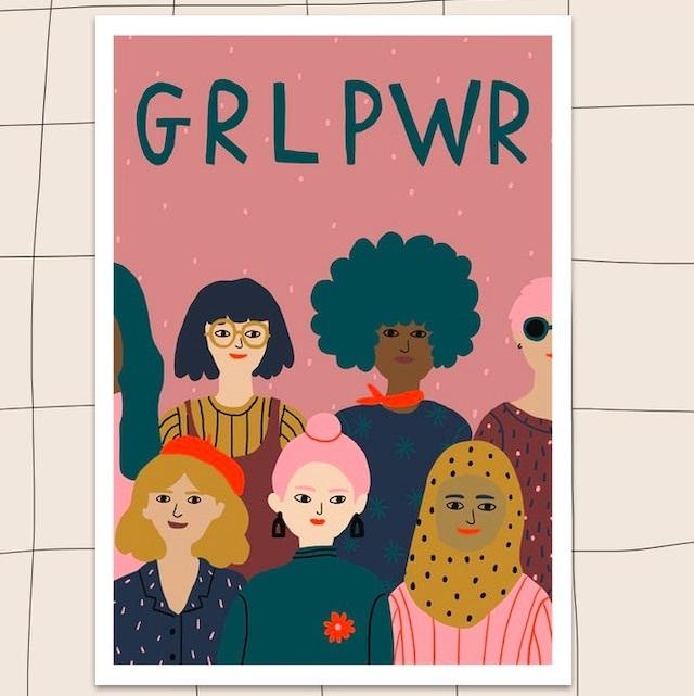 """Jennifer Bouron """"GRL PWR"""" A4 print"""