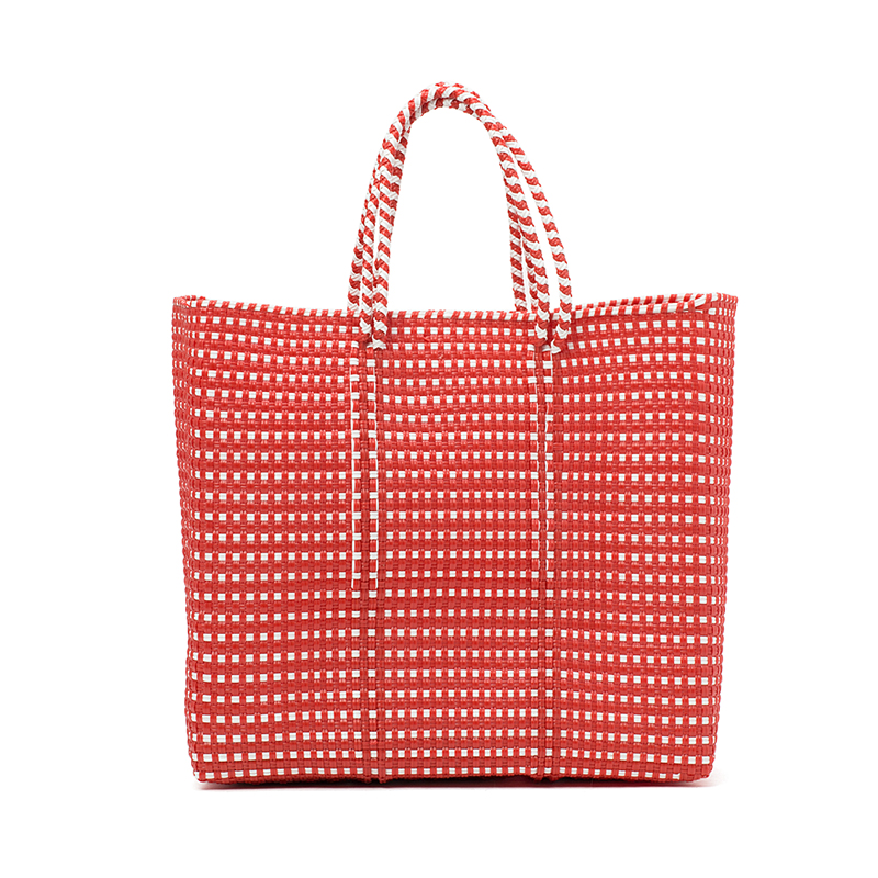 MERCADO BAG MINI CHECK-Red (M)
