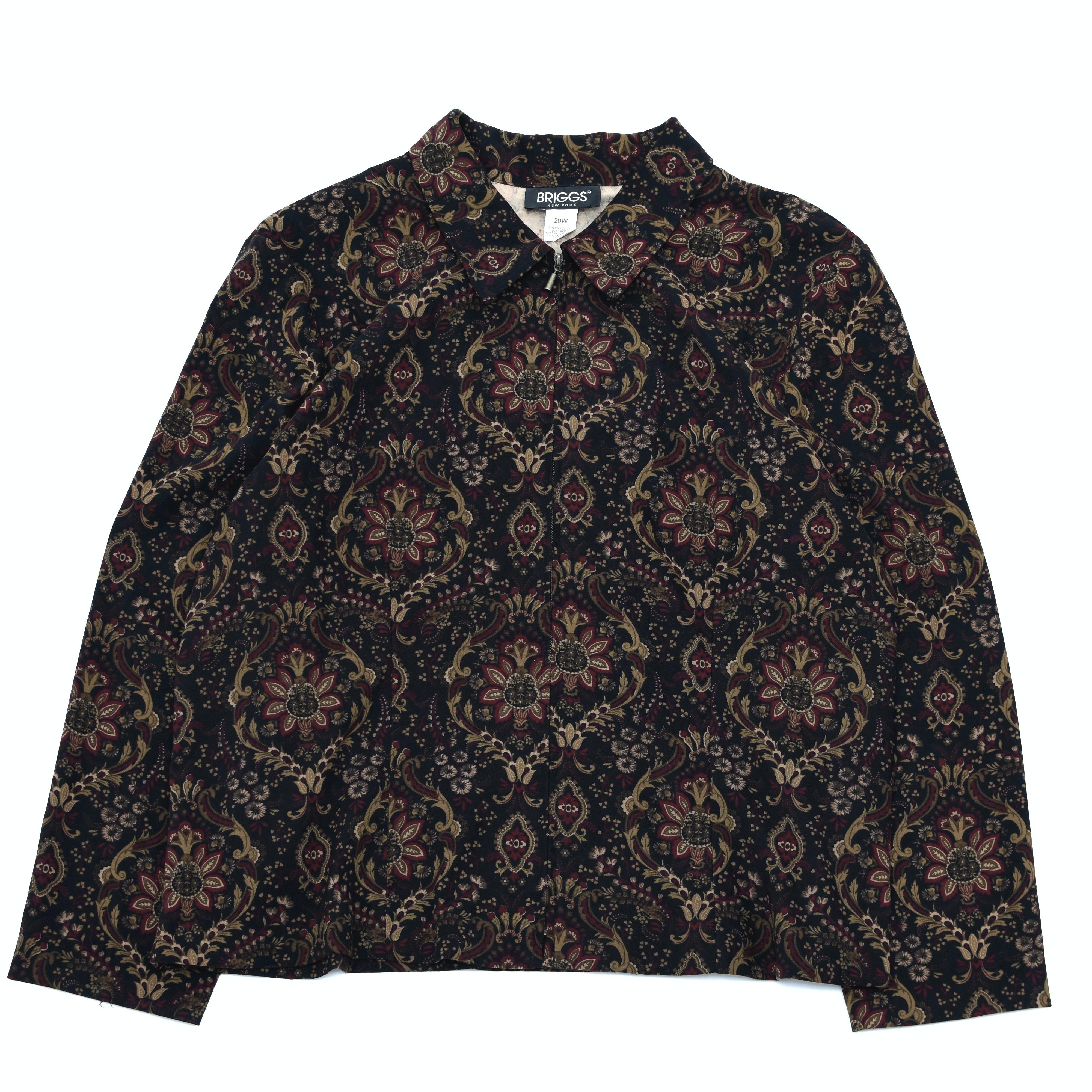 Unisex damask full pattern single jacket