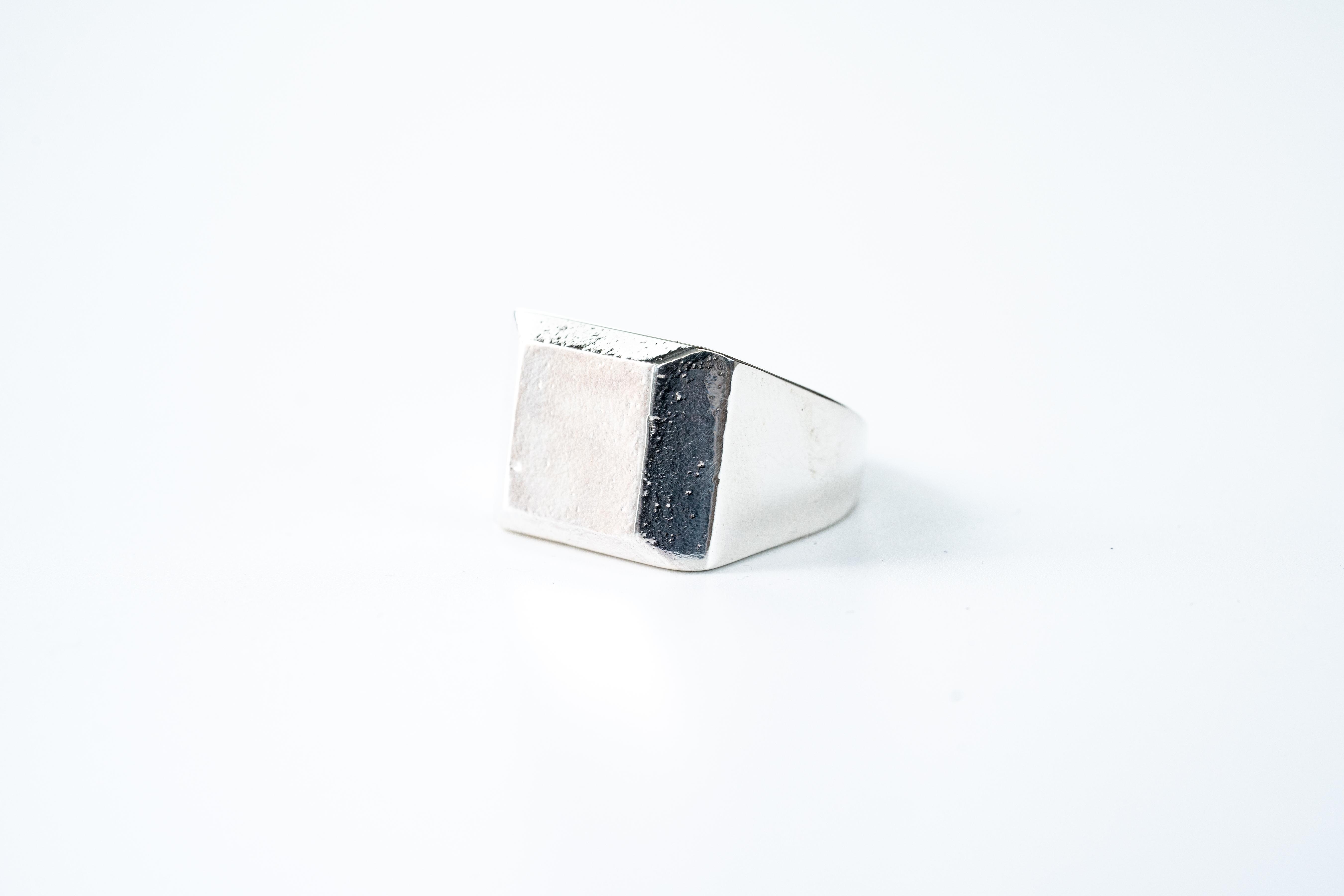 R-053  印台square texture ring