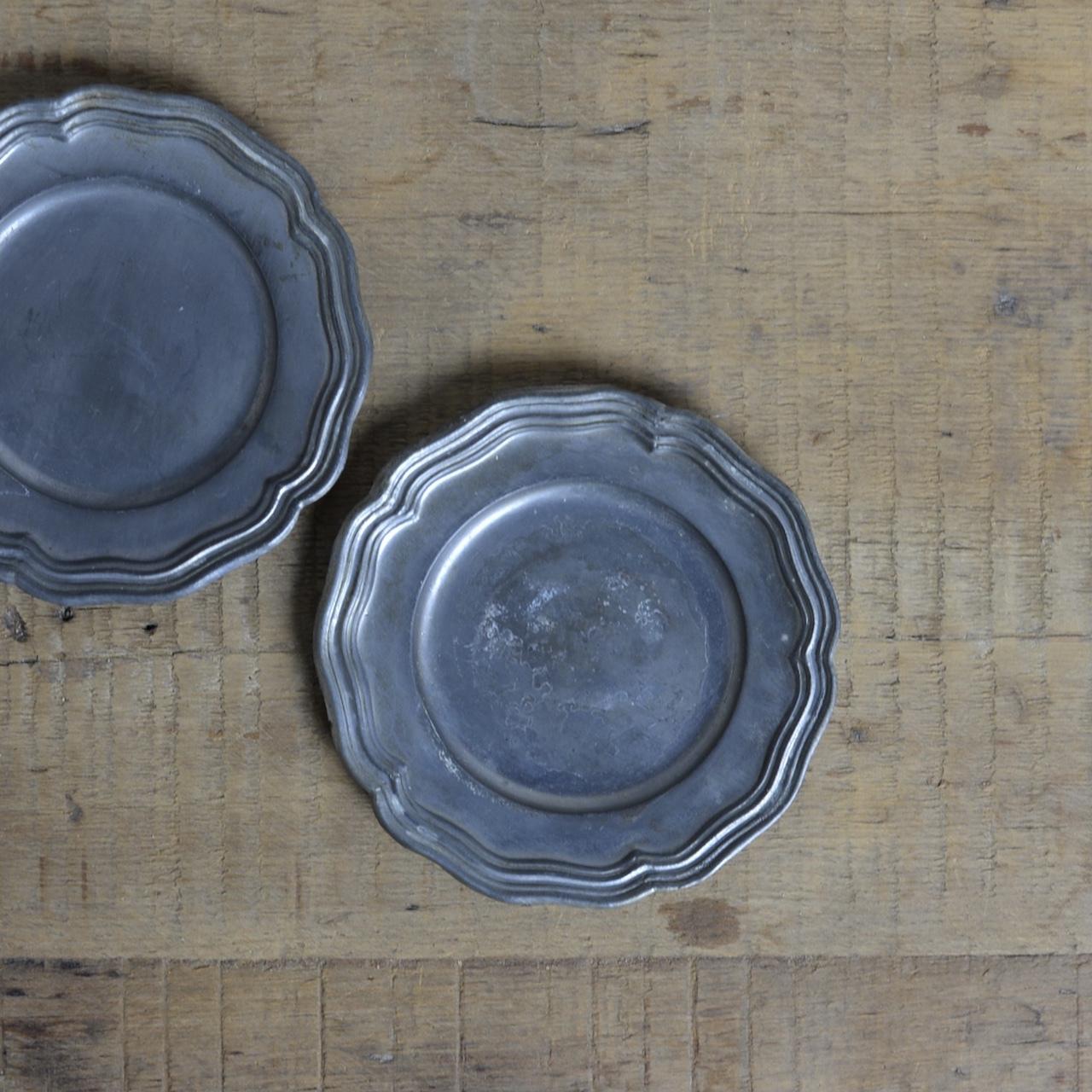 Pewter Plate / ピューター プレート【A】〈お皿・トレイ・器・花リム〉112263