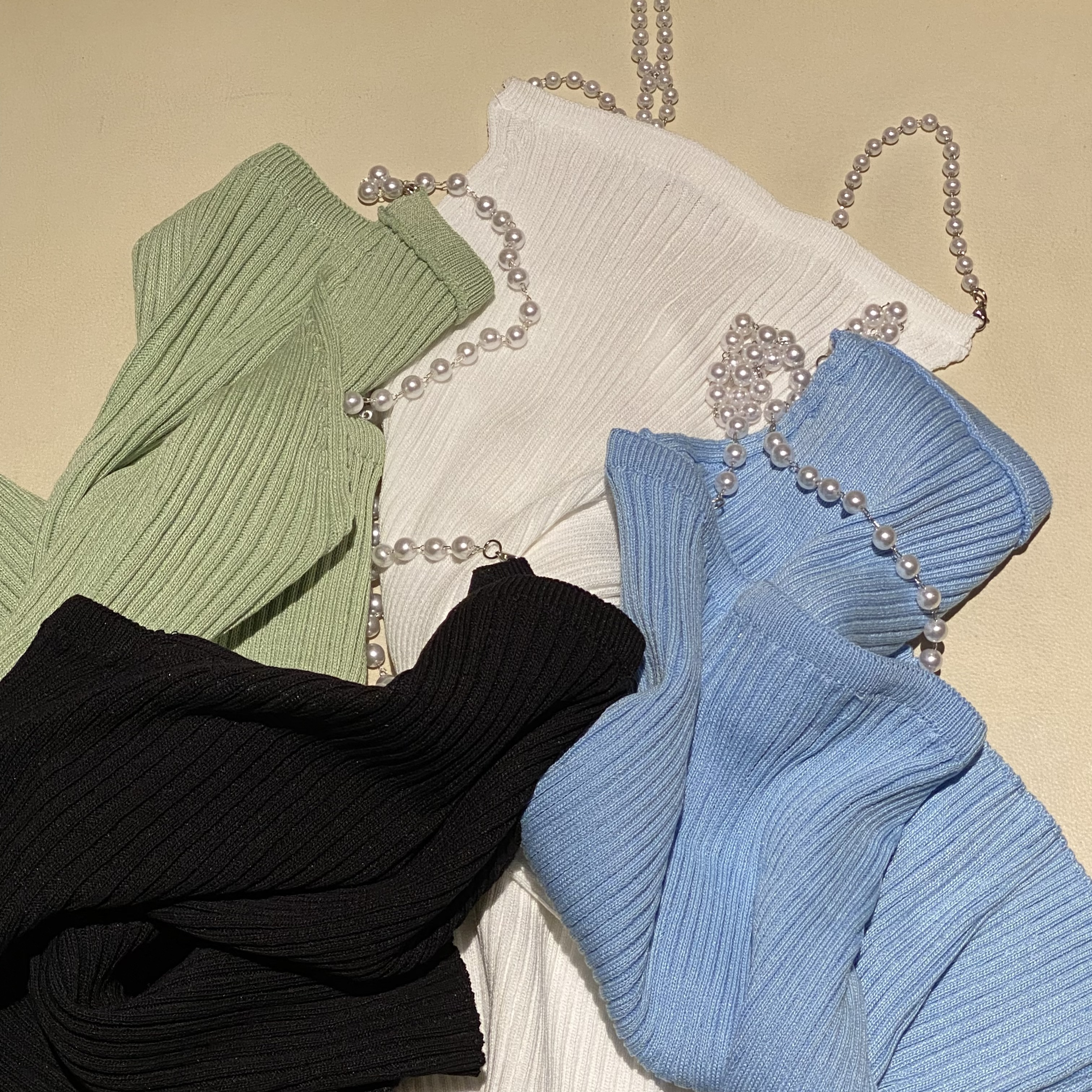 【Belle】pearl camisol / green