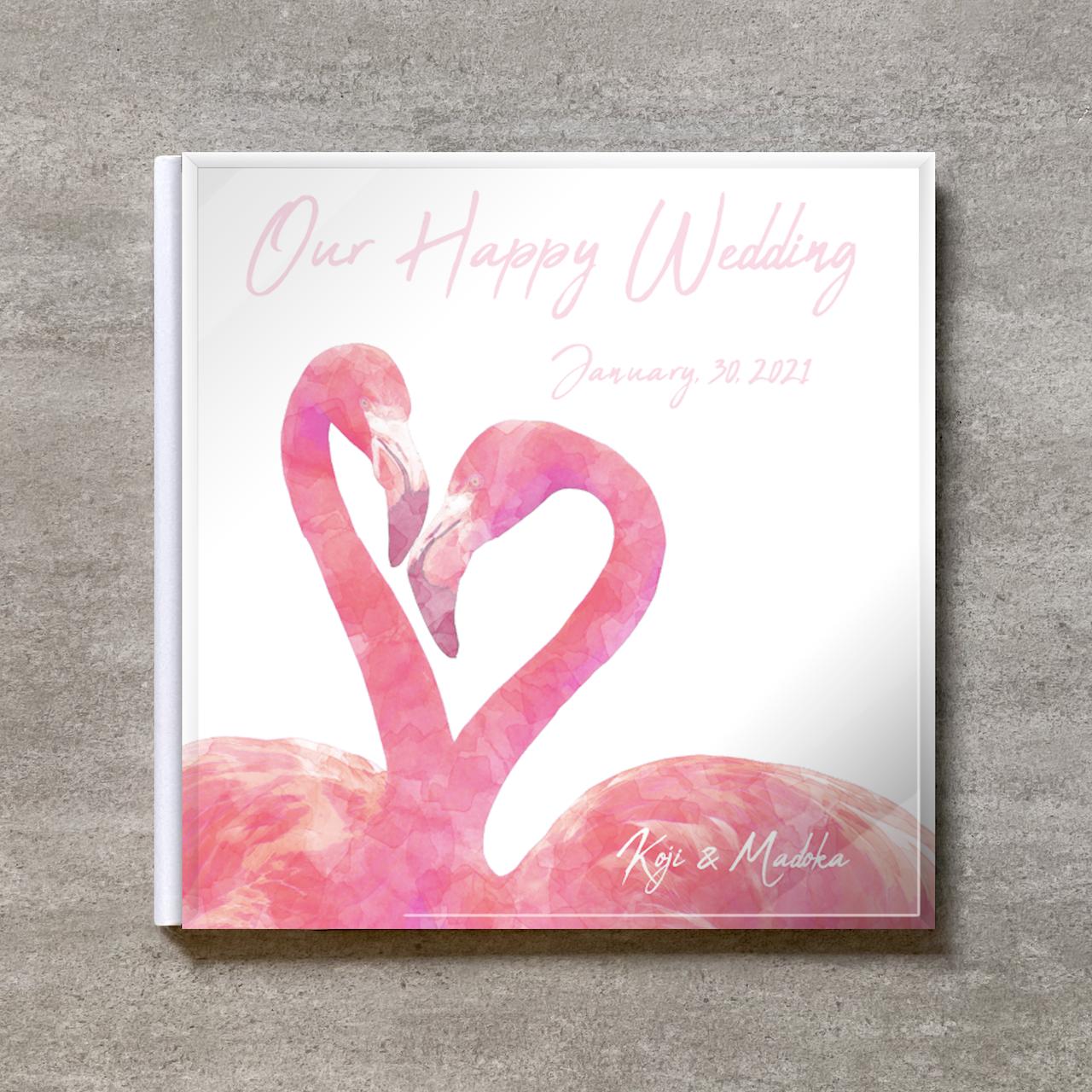 White Flamingo_A4スクエア_6ページ/10カット_クラシックアルバム(アクリルカバー)