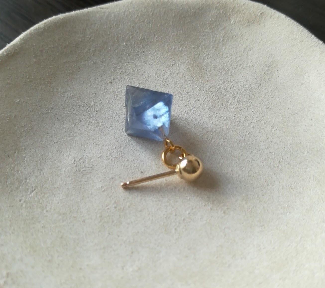 青の蛍石のピアス(New Mexicoビンガム産蛍石) by Haru