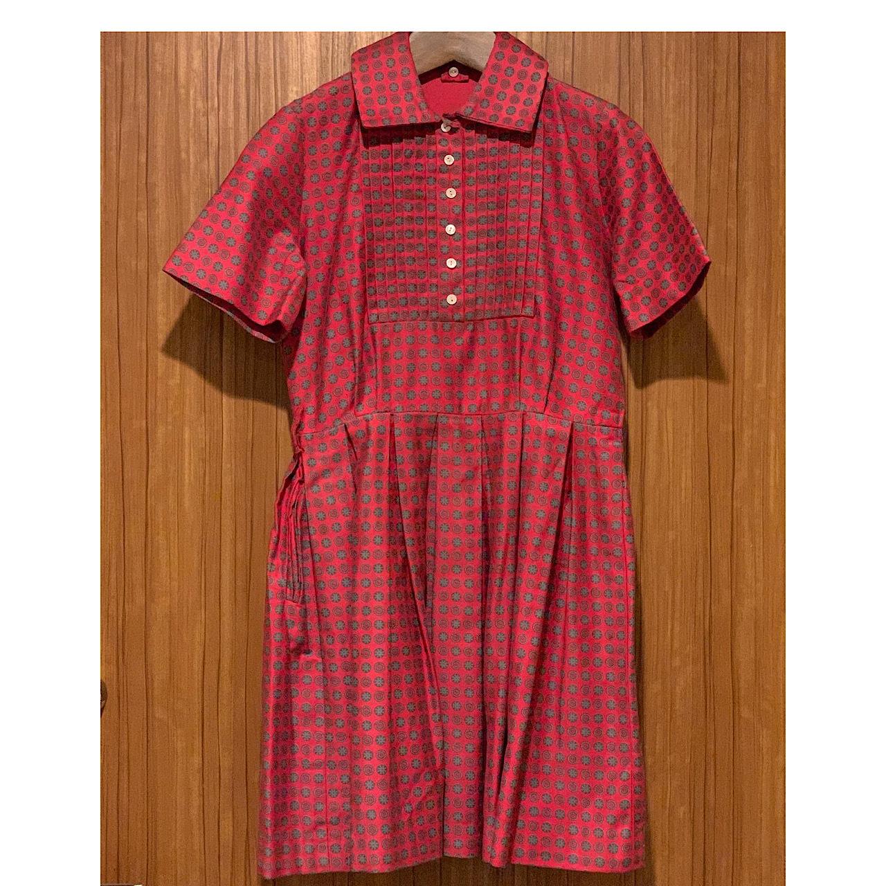 【KIDS】Vintage small crest dress