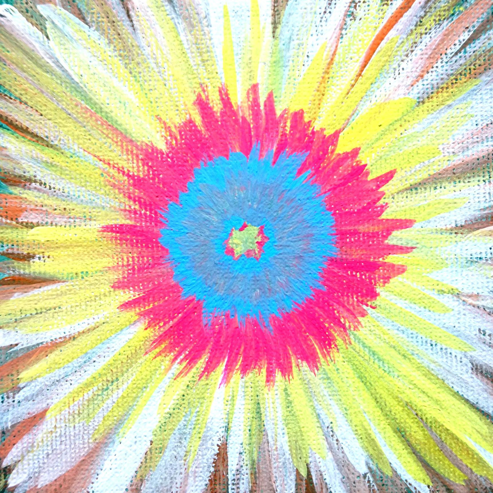 絵画 絵 ピクチャー 縁起画 モダン シェアハウス アートパネル アート art 14cm×14cm 一人暮らし 送料無料 インテリア 雑貨 壁掛け 置物 おしゃれ 抽象画 ロココロ 画家 : ごま 作品 : はじまりのとき。