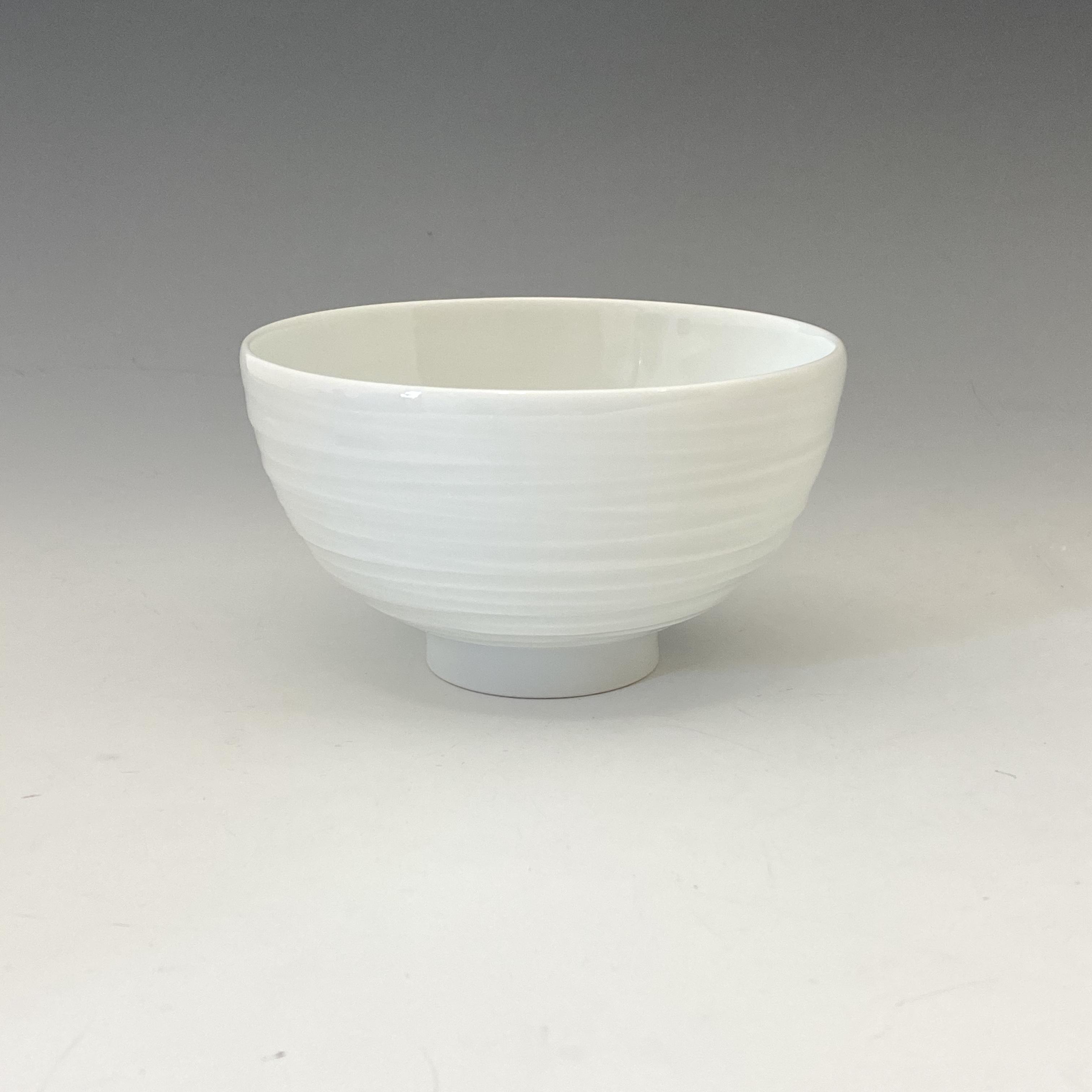 【中尾純】白磁線彫碗(小)