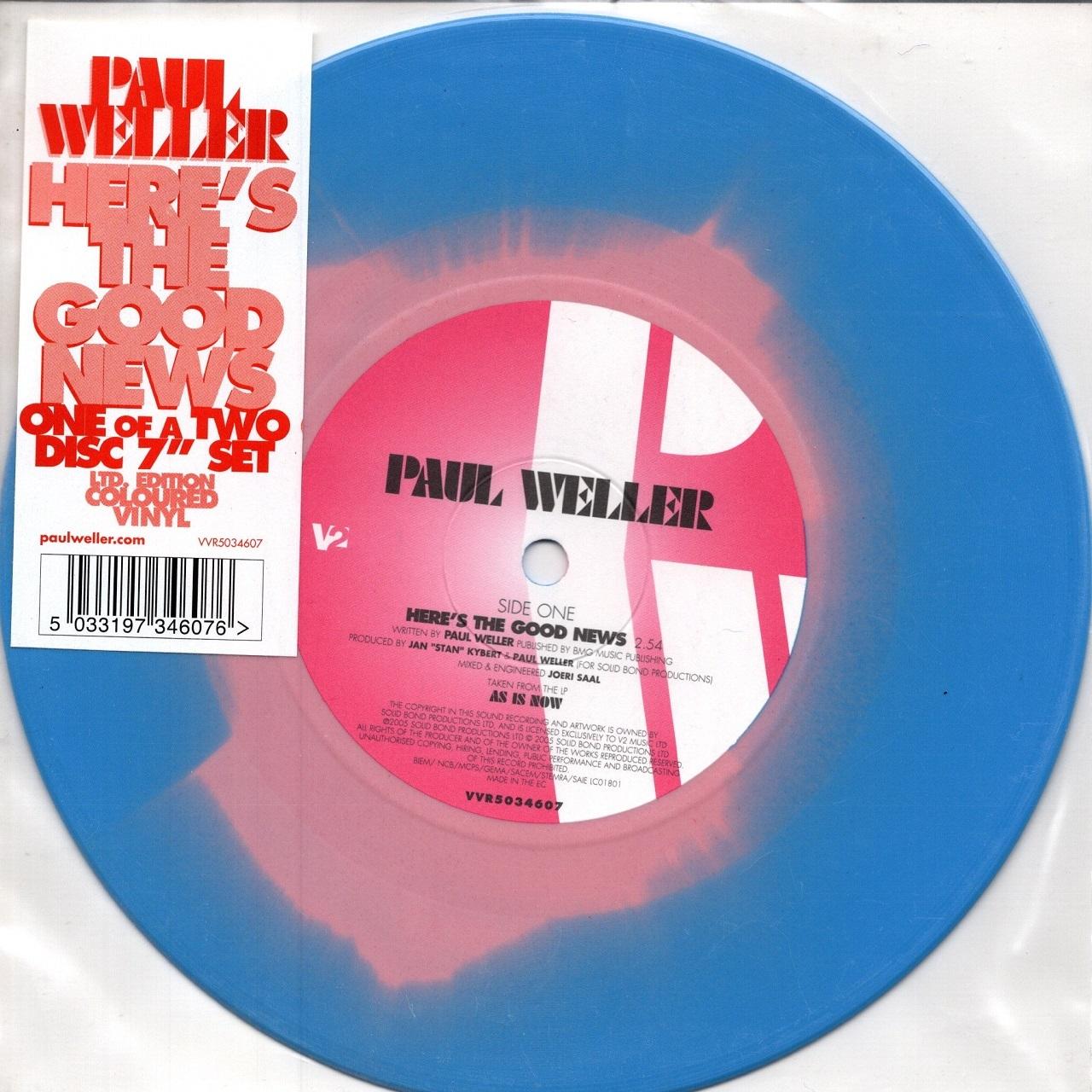 【7inch・欧州盤】Paul Weller /  Here's The Good News