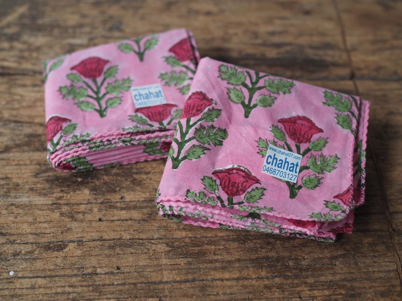 156ri049 Block Print Handkerchief 9