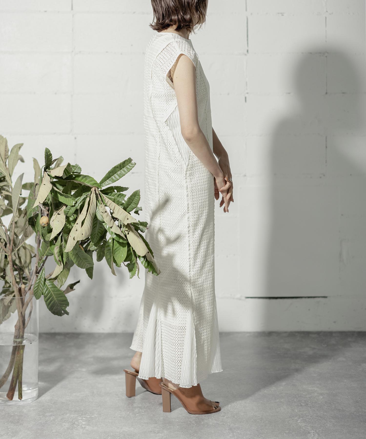 VINTAGE LACE DRESS (O.WHITE)