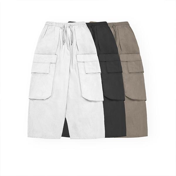 【UNISEX】マルチポケット ワイドレッグ カーゴパンツ【3colors】UN-566