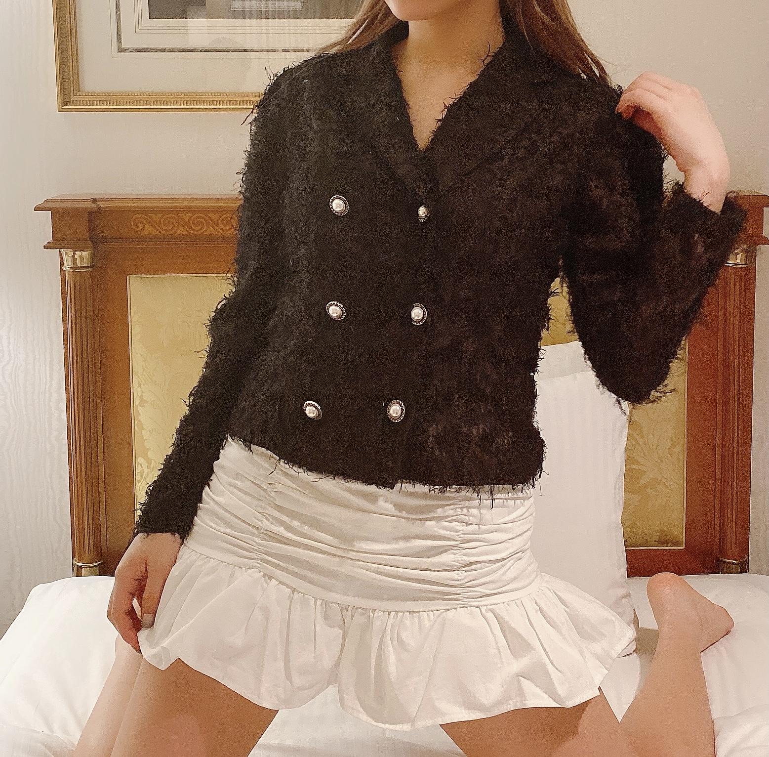 【Belle jour】gather frill mini skirt