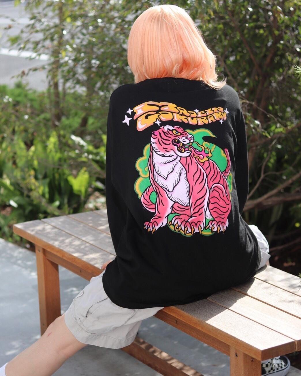 【数量限定予約販売】MAID in 極楽 long sleeve T-shirt【black】