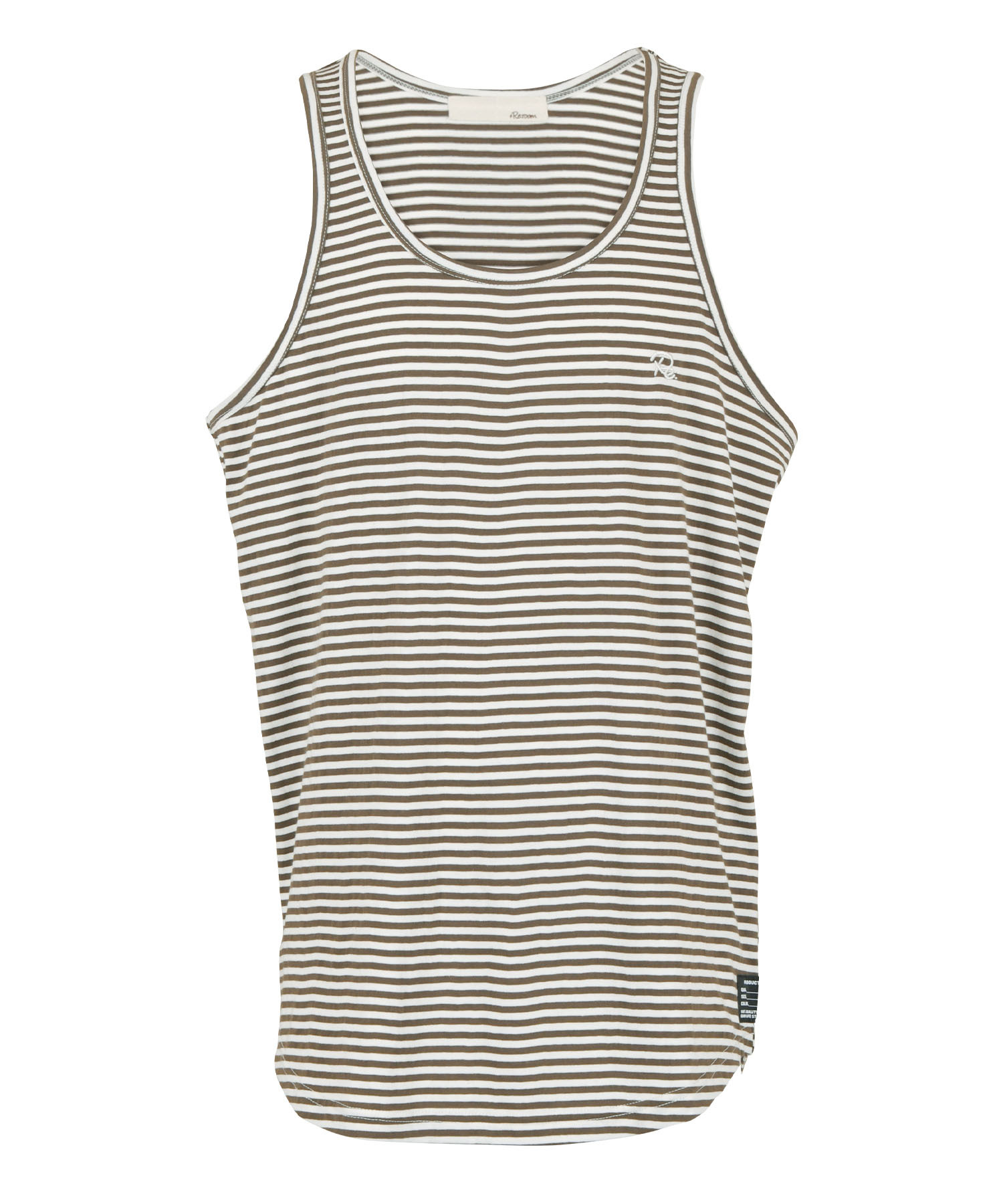 Re: ONE POINT BORDER TANK TOP[REC500]