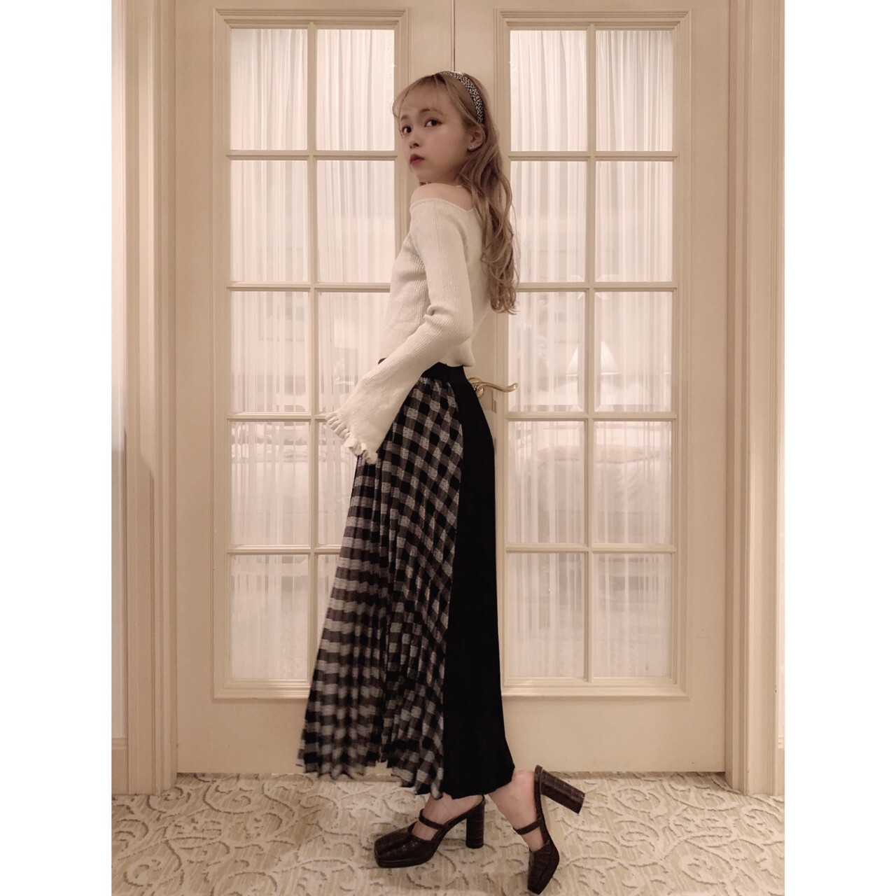 【meltie】asymmetry design skirt