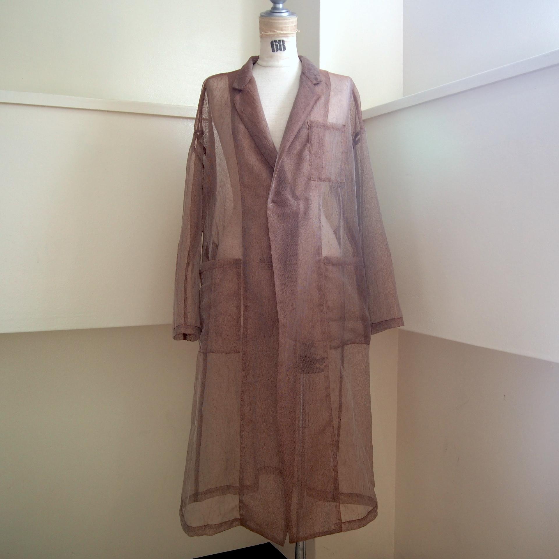 【RehersalL】mesh coat (brown)/【リハーズオール】メッシュコート(ブラウン)