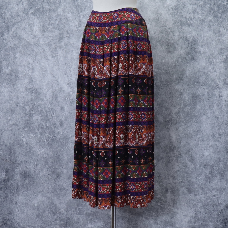 90年代 アメリカ ユーズド 古着 総柄 ロングスカート 90's USA Used Prints  Long  Skirts