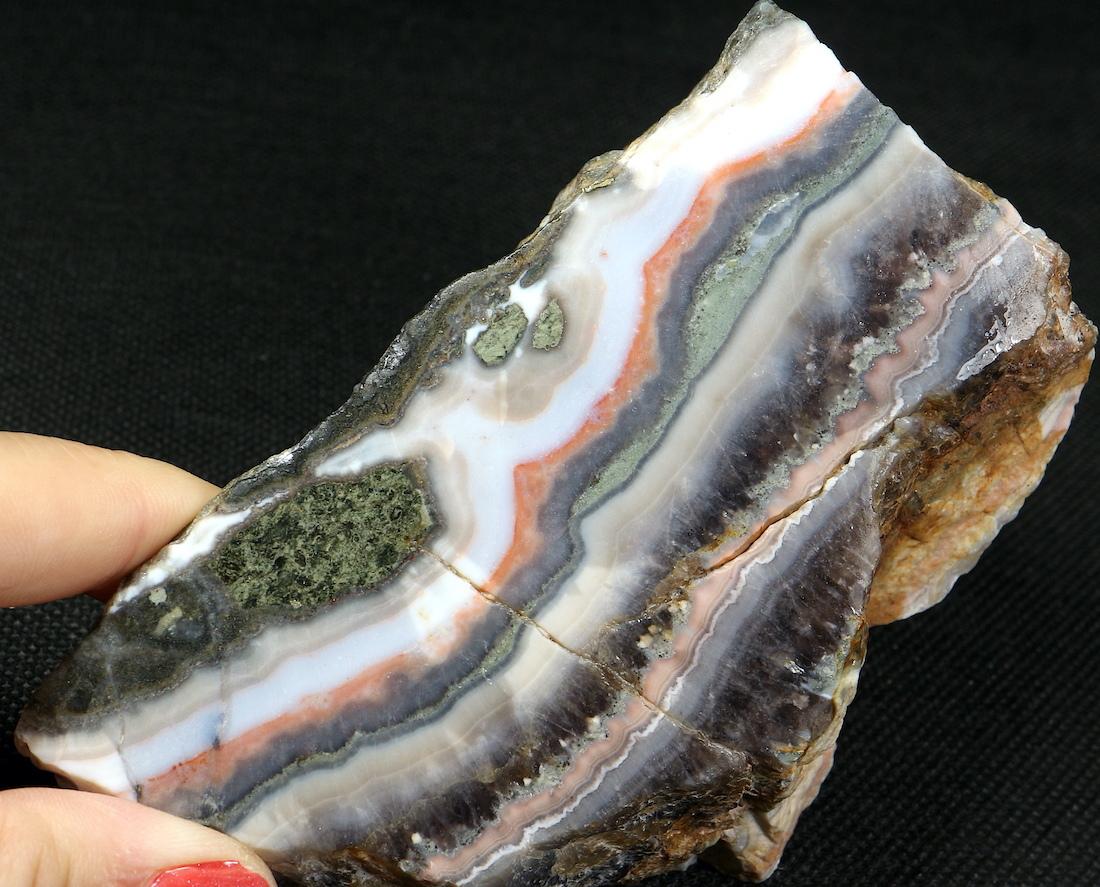レース アメジスト アゲート デュランゴ 362,6g DLA013 原石 鉱物 天然石 パワーストーン