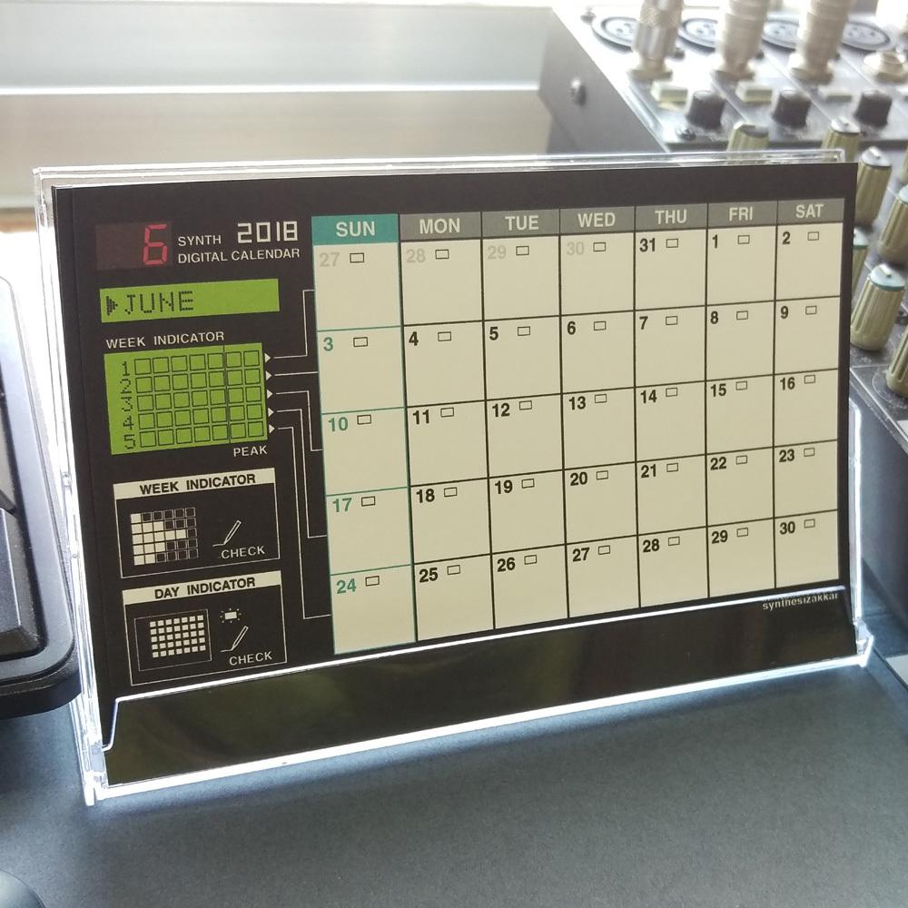 【カレンダー】SYNTH2018 DIGITAL CALENDAR  卓上カレンダー