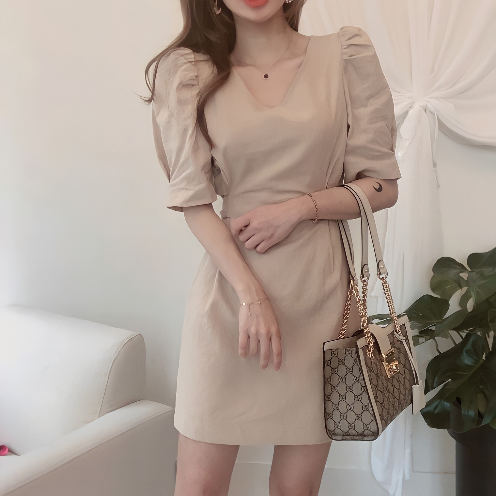 style up ribbon dress 3color