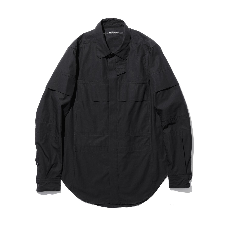 757SHM4-BLACK / フライフロントシャツ