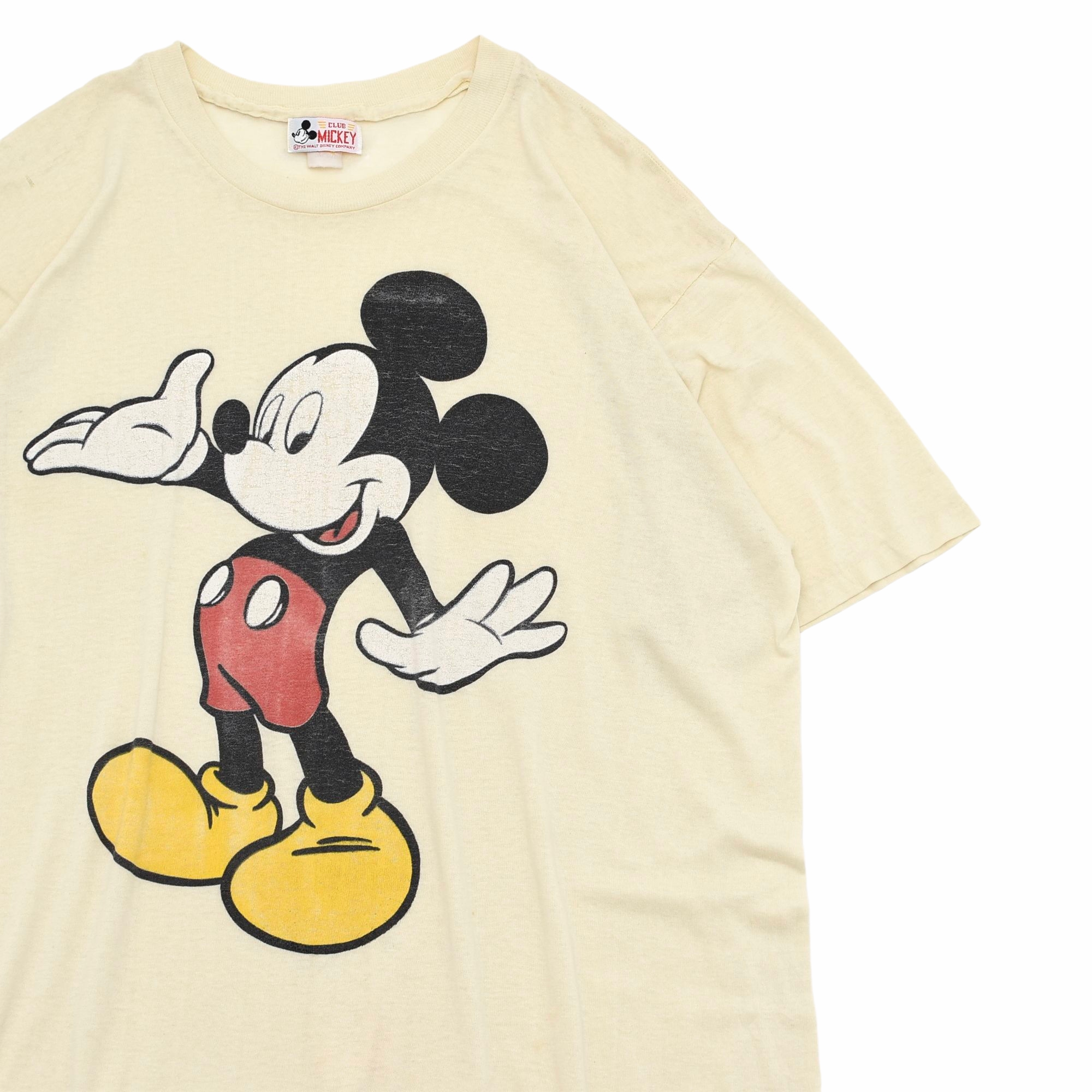 80〜90s DISNEY MICKEY print T one-piece Made in USA