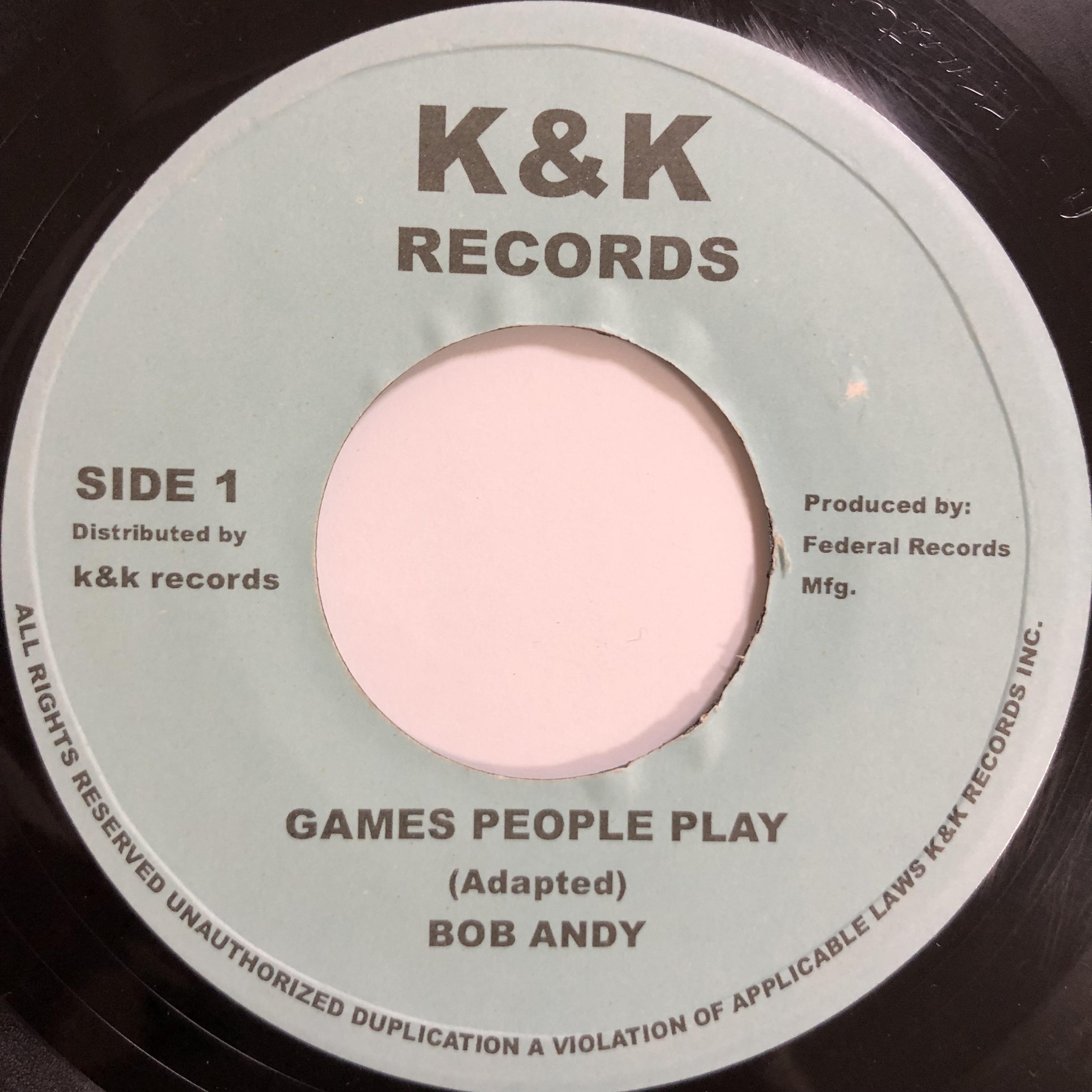 Bob Andy(ボブアンディ) - Games People Play【7-20038】