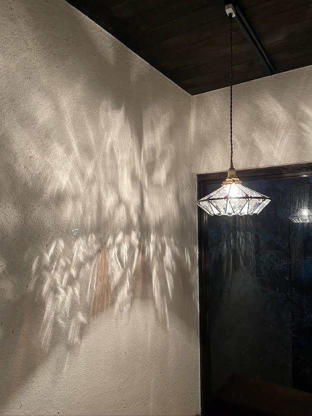 凪の海(ステンドグラスの吊りランプ)(ペンダントライト) 01010059
